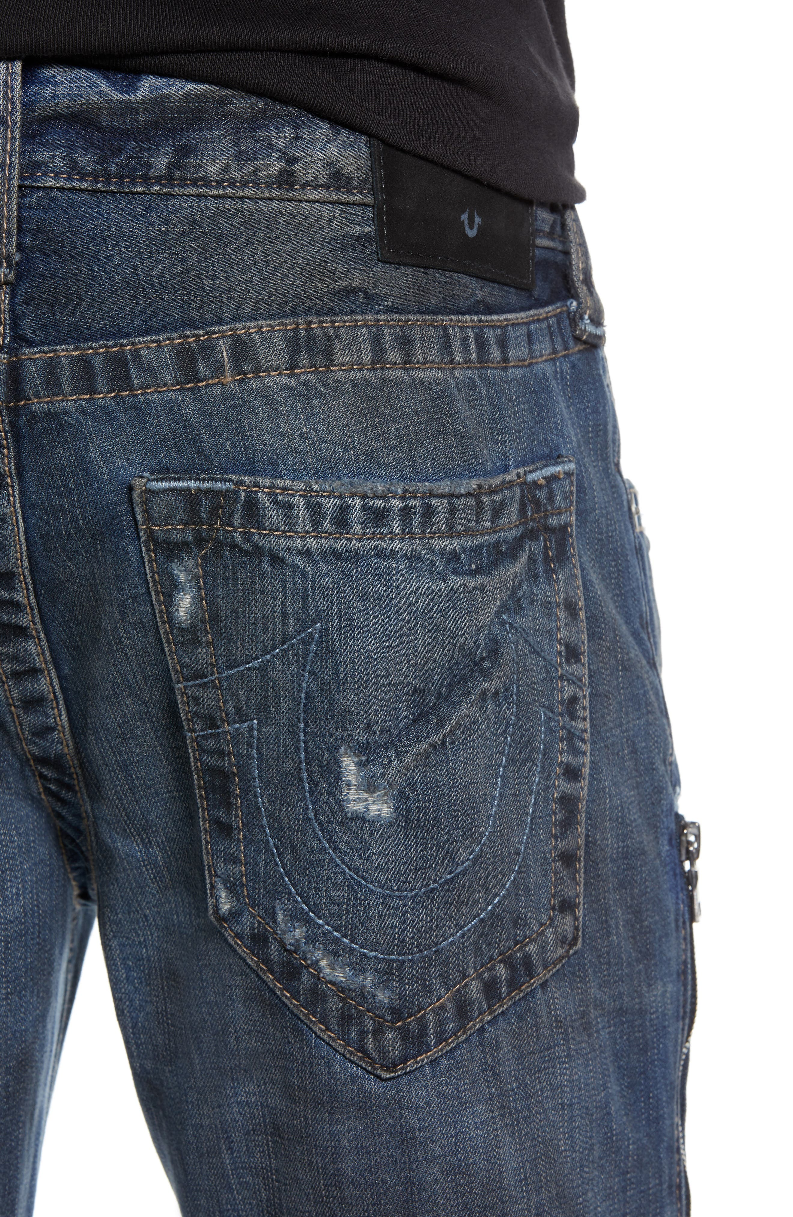 Rocco Distressed Skinny Fit Jeans,                             Alternate thumbnail 4, color,                             MIDNIGHT STORM