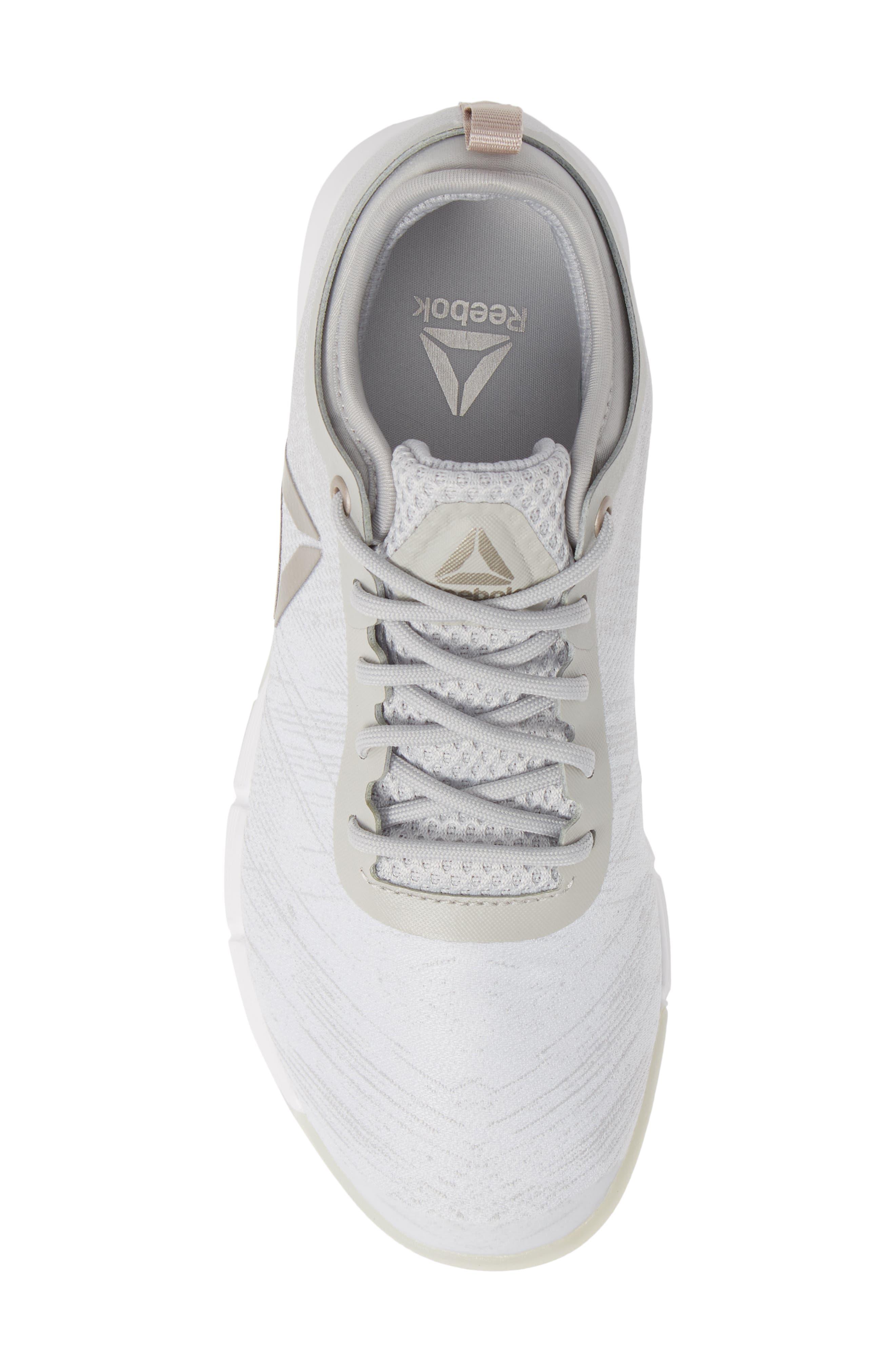 Speed Her TR Training Shoe,                             Alternate thumbnail 5, color,                             WHITE/ SPIRIT WHITE/ MOONDUST