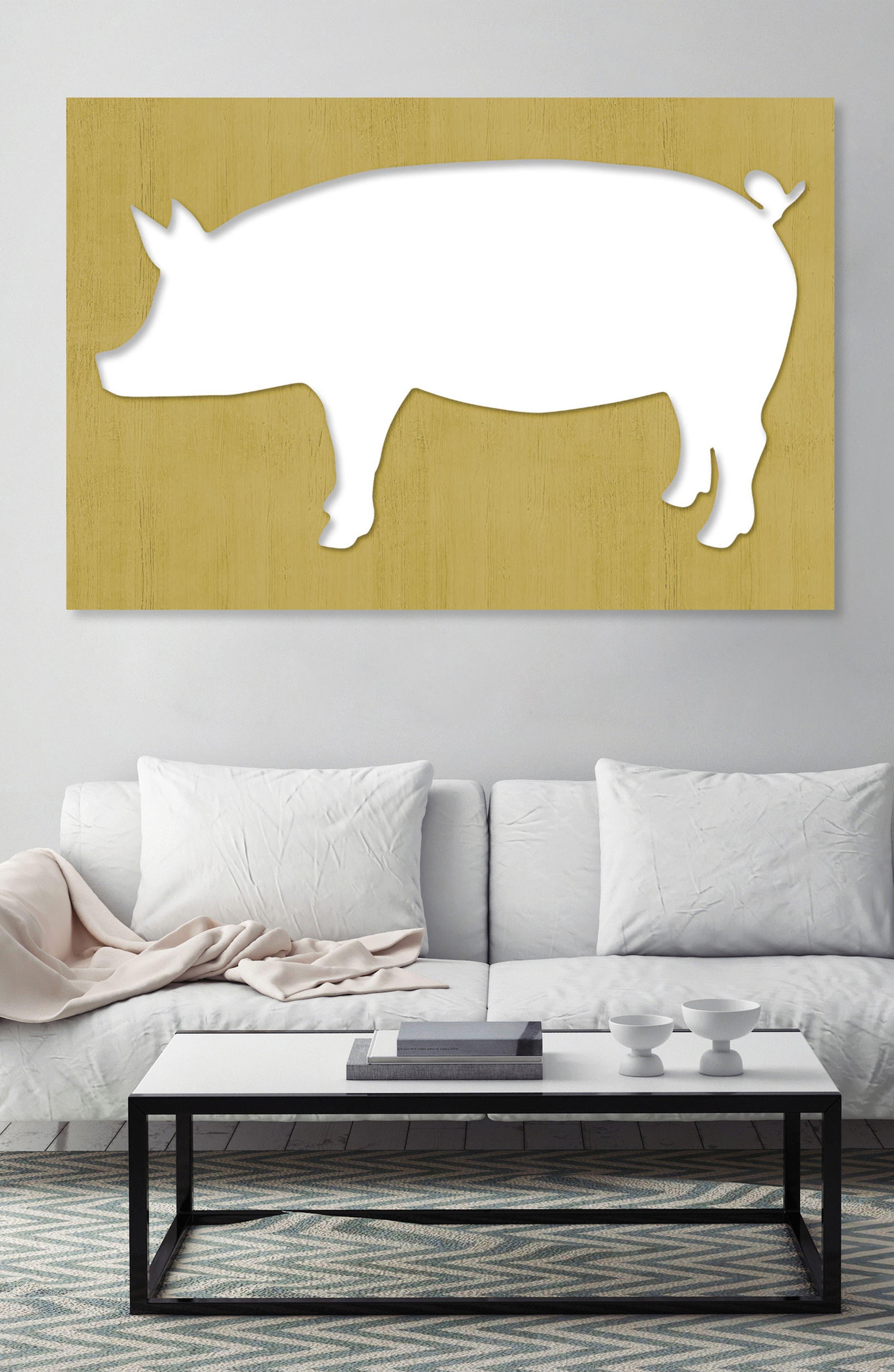 Pig Canvas Wall Art,                             Alternate thumbnail 2, color,