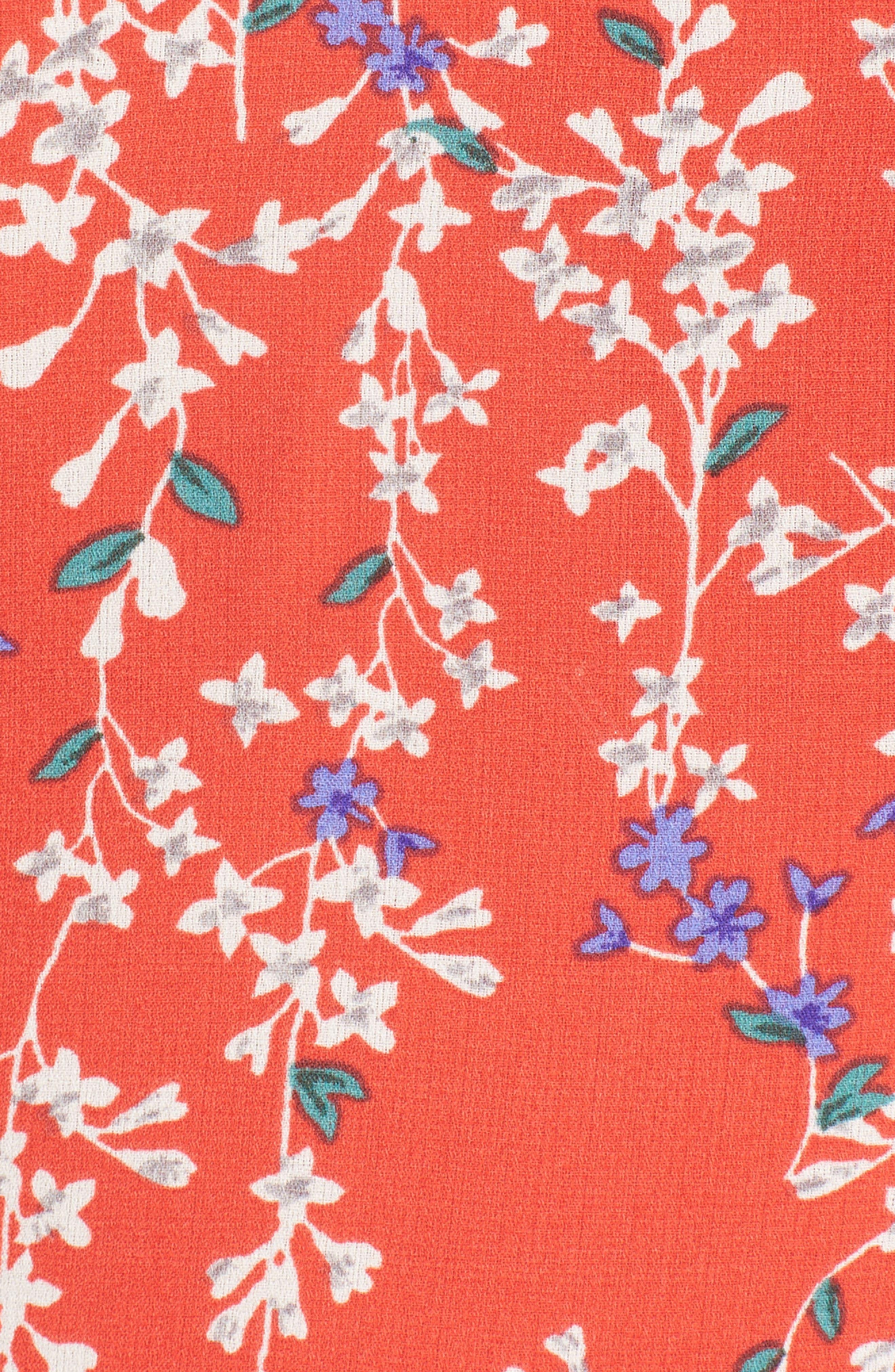 Floral Ruffle Crop Top,                             Alternate thumbnail 6, color,                             602