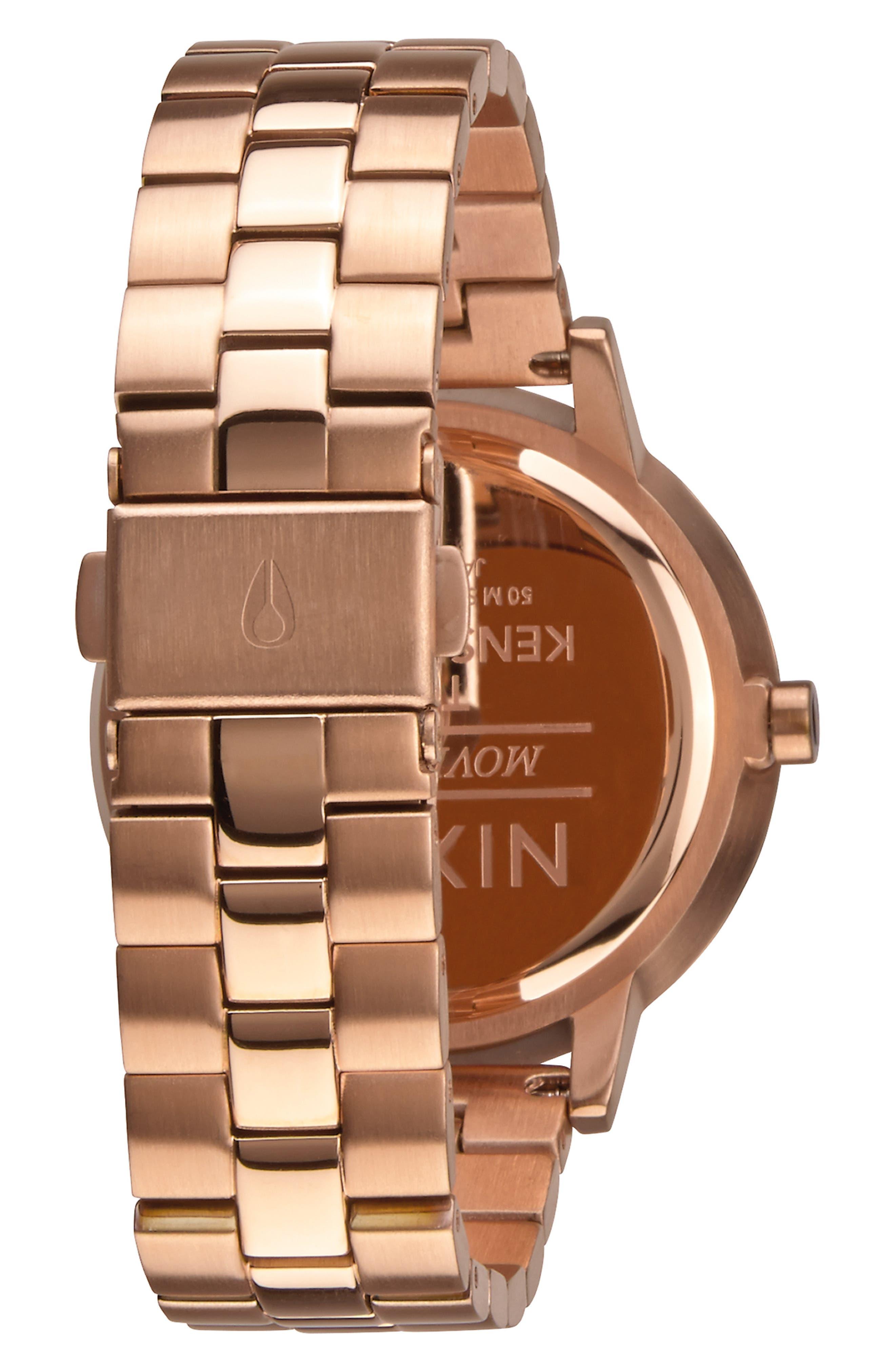 'The Kensington' Bracelet Watch, 37mm,                             Alternate thumbnail 2, color,                             ROSE GOLD/ WHITE