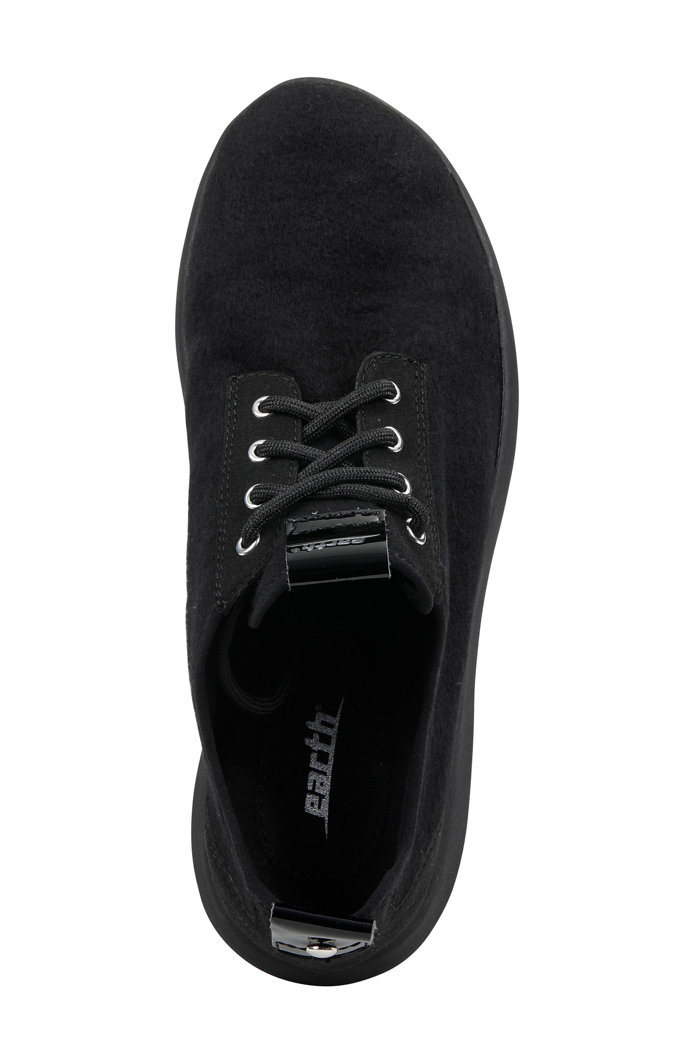 Boomer Sneaker,                             Alternate thumbnail 5, color,                             BLACK FABRIC