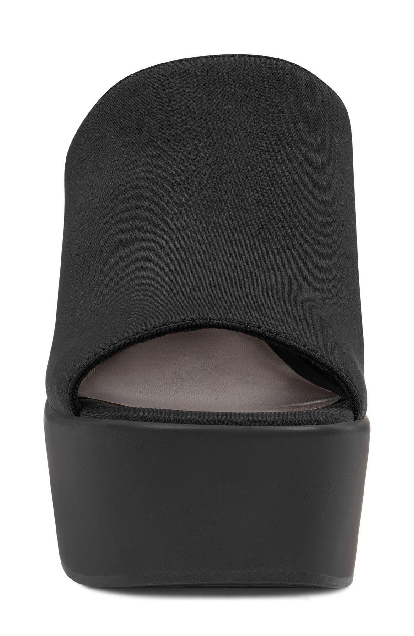 Tomo - 40th Anniversary Capsule Collection Platform Sandal,                             Alternate thumbnail 4, color,                             BLACK FABRIC