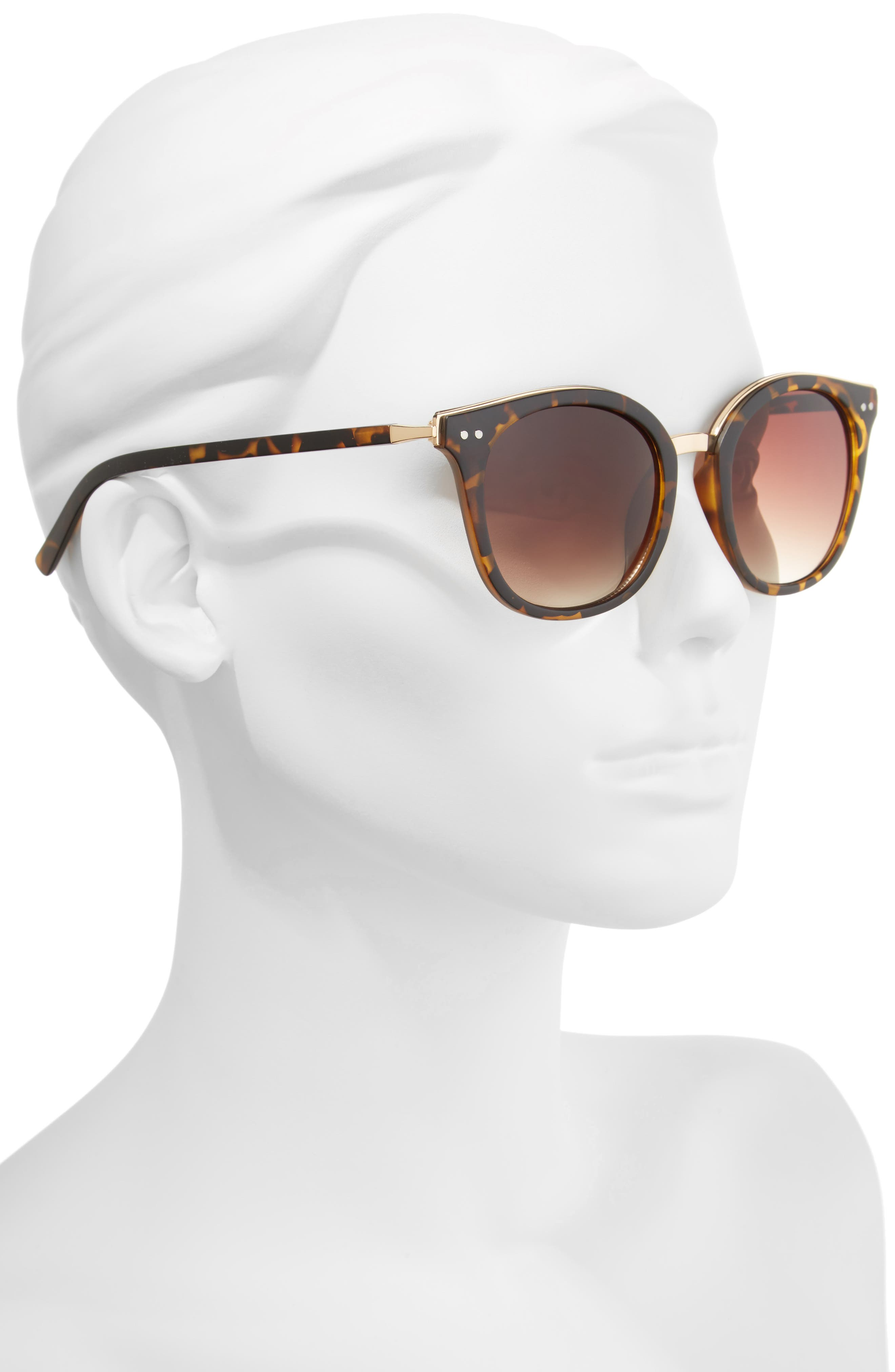Metal Rim Round Sunglasses,                             Alternate thumbnail 2, color,                             200