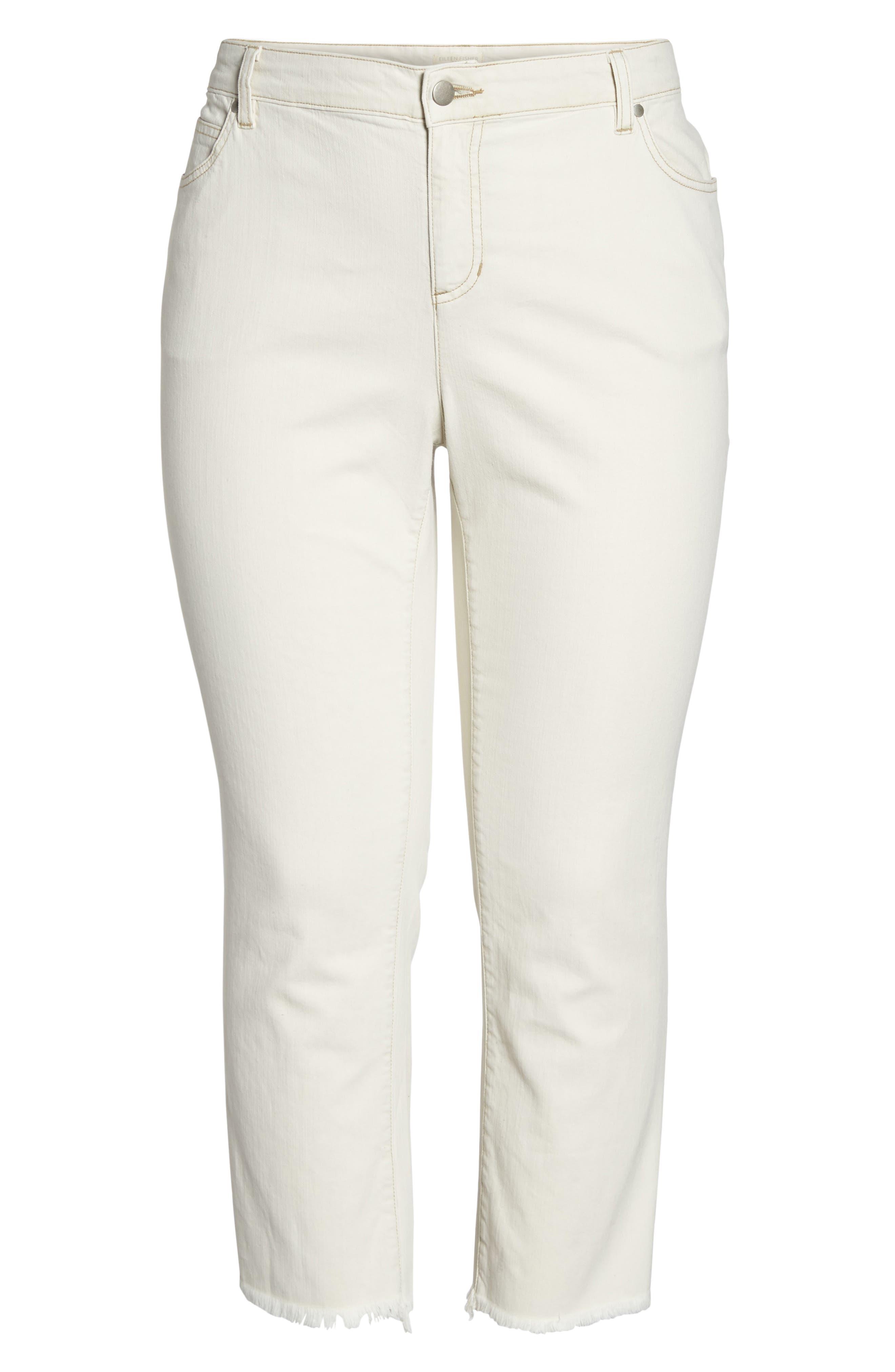 Stretch Organic Denim Crop Jeans,                             Alternate thumbnail 6, color,                             251