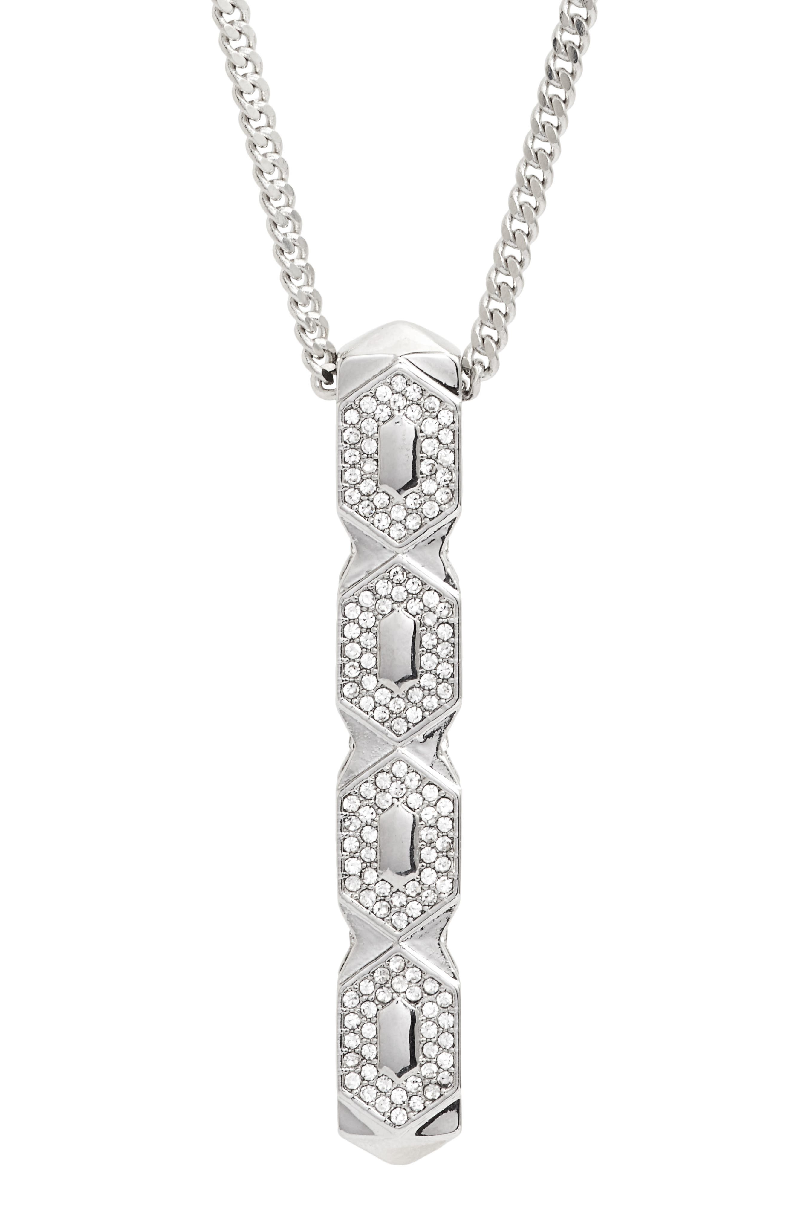 Crystal Pendant Necklace,                             Alternate thumbnail 2, color,                             041