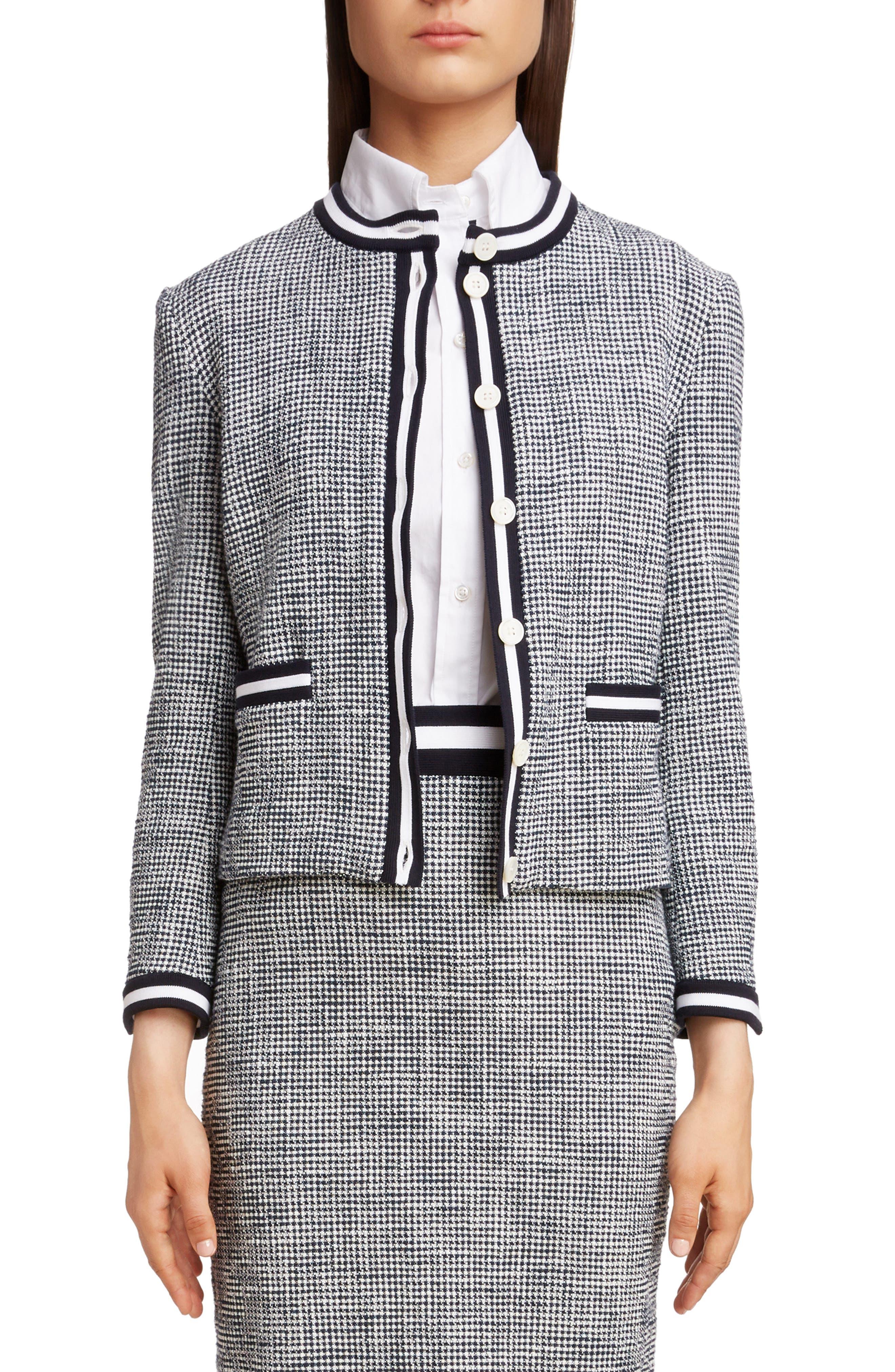 Stripe Tweed Cardigan by Thom Browne