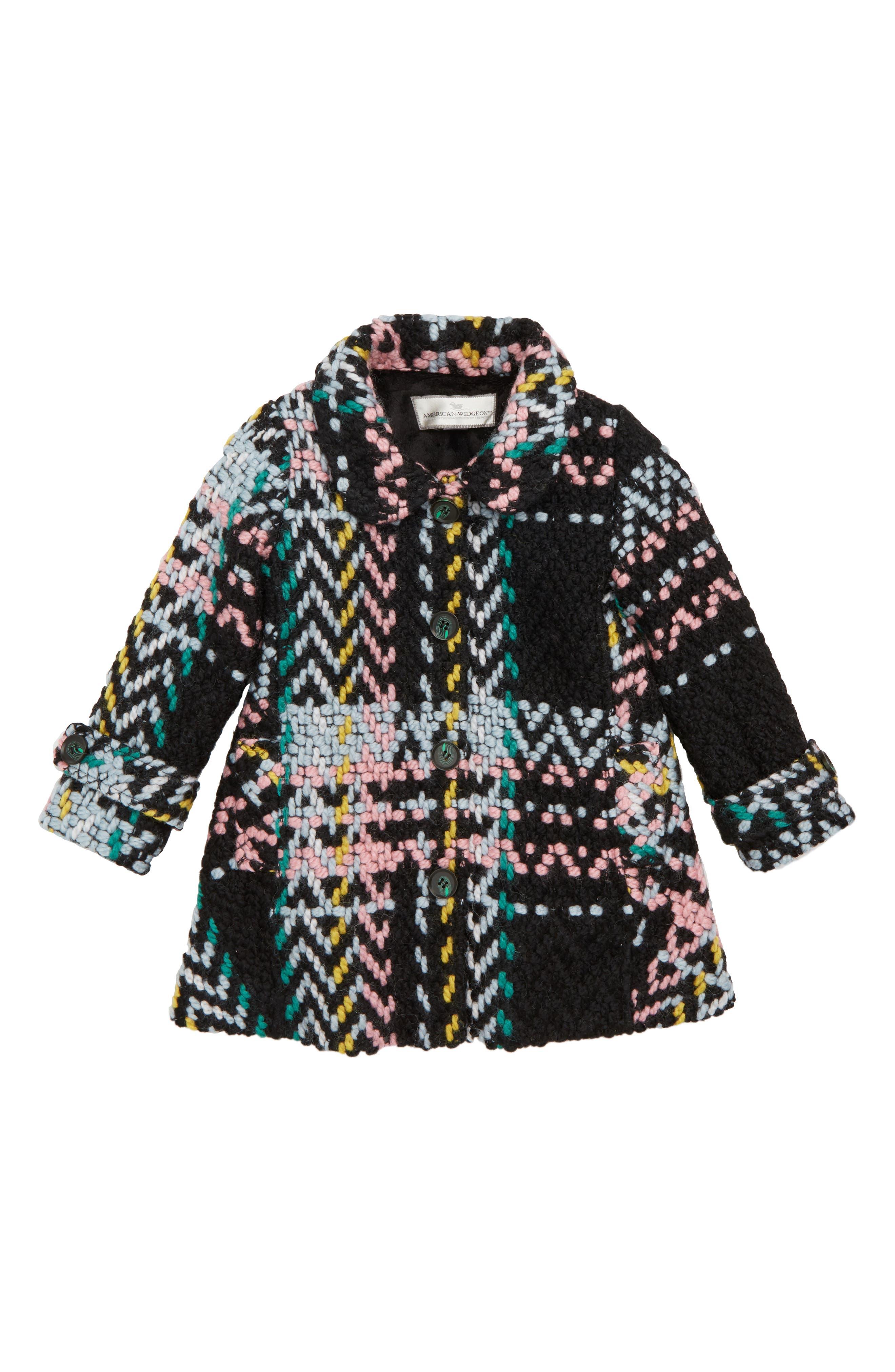 Herringbone Plaid Coat,                             Main thumbnail 1, color,                             001