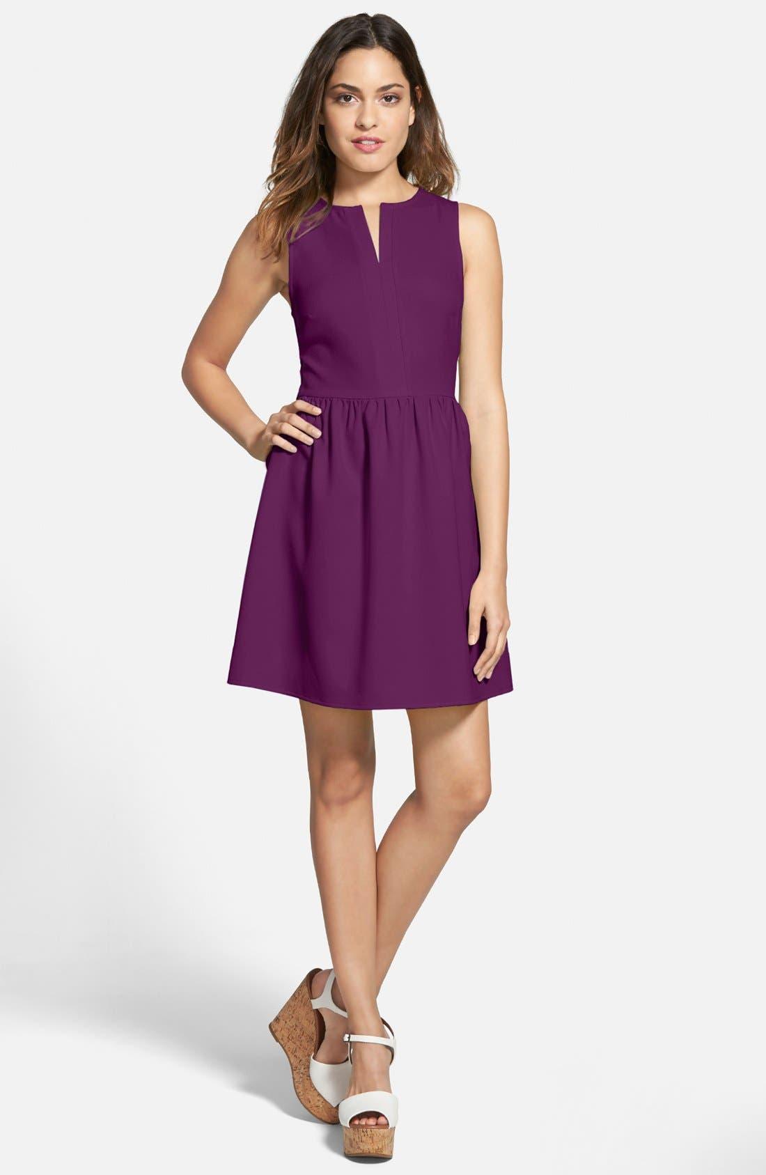 'Rowan' V-Neck Skater Dress,                             Main thumbnail 9, color,
