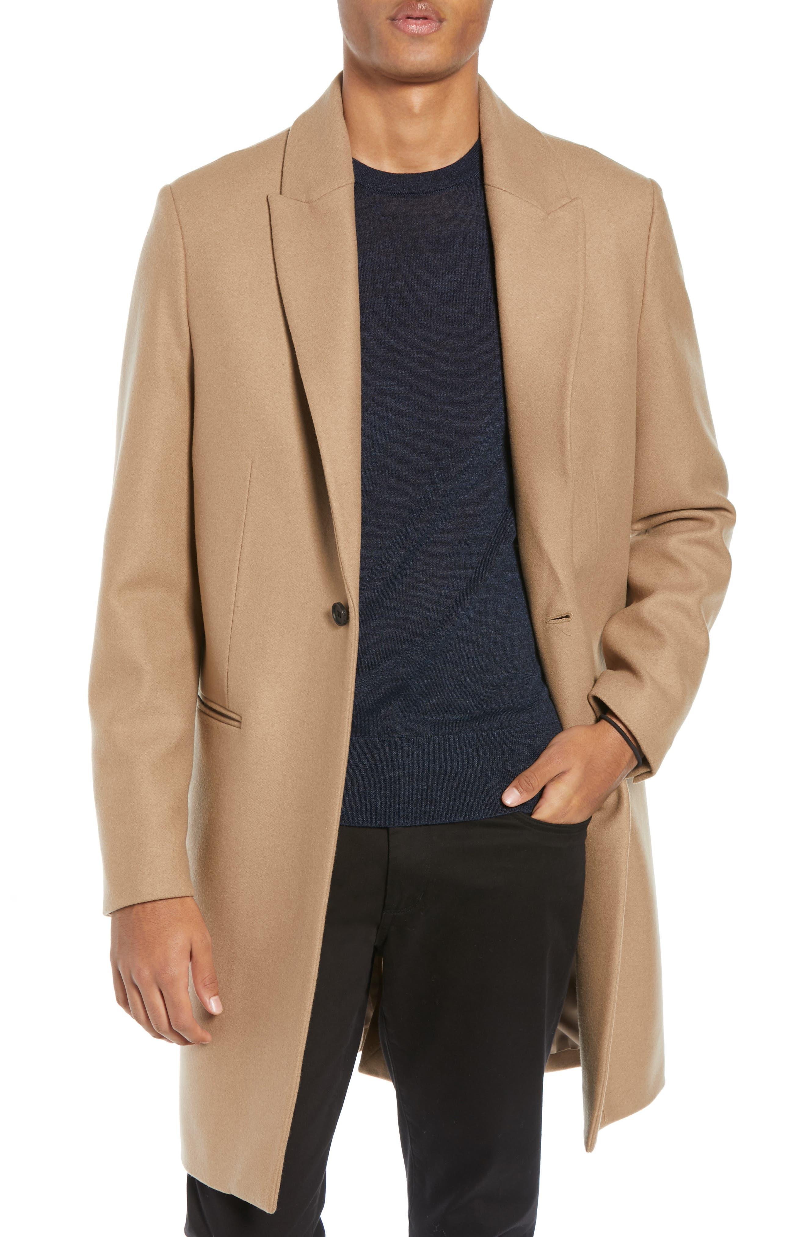 Tulsen Regular Fit Wool Topcoat,                             Main thumbnail 1, color,                             200