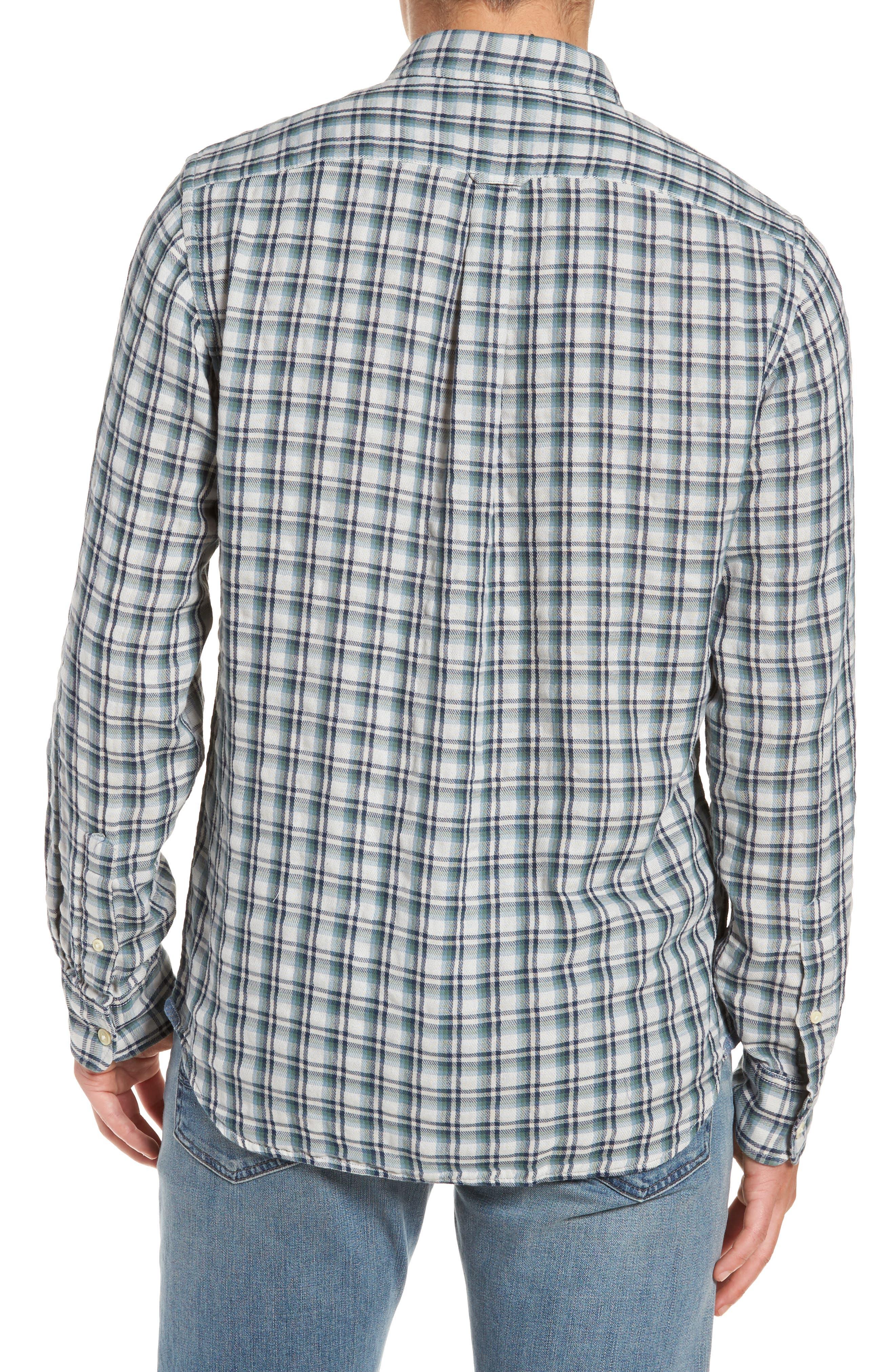 GRAYERS,                             Boulder Double Cloth Plaid Sport Shirt,                             Alternate thumbnail 2, color,                             100