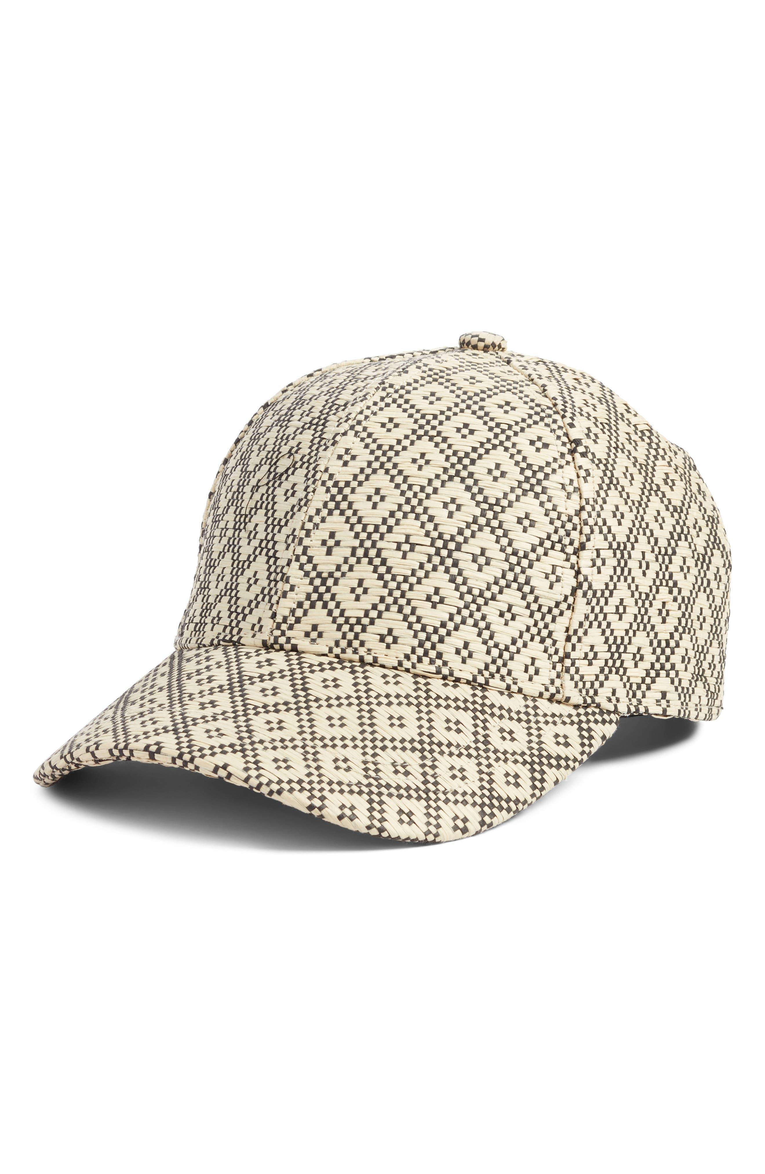 Geo Straw Baseball Cap,                             Main thumbnail 1, color,                             250