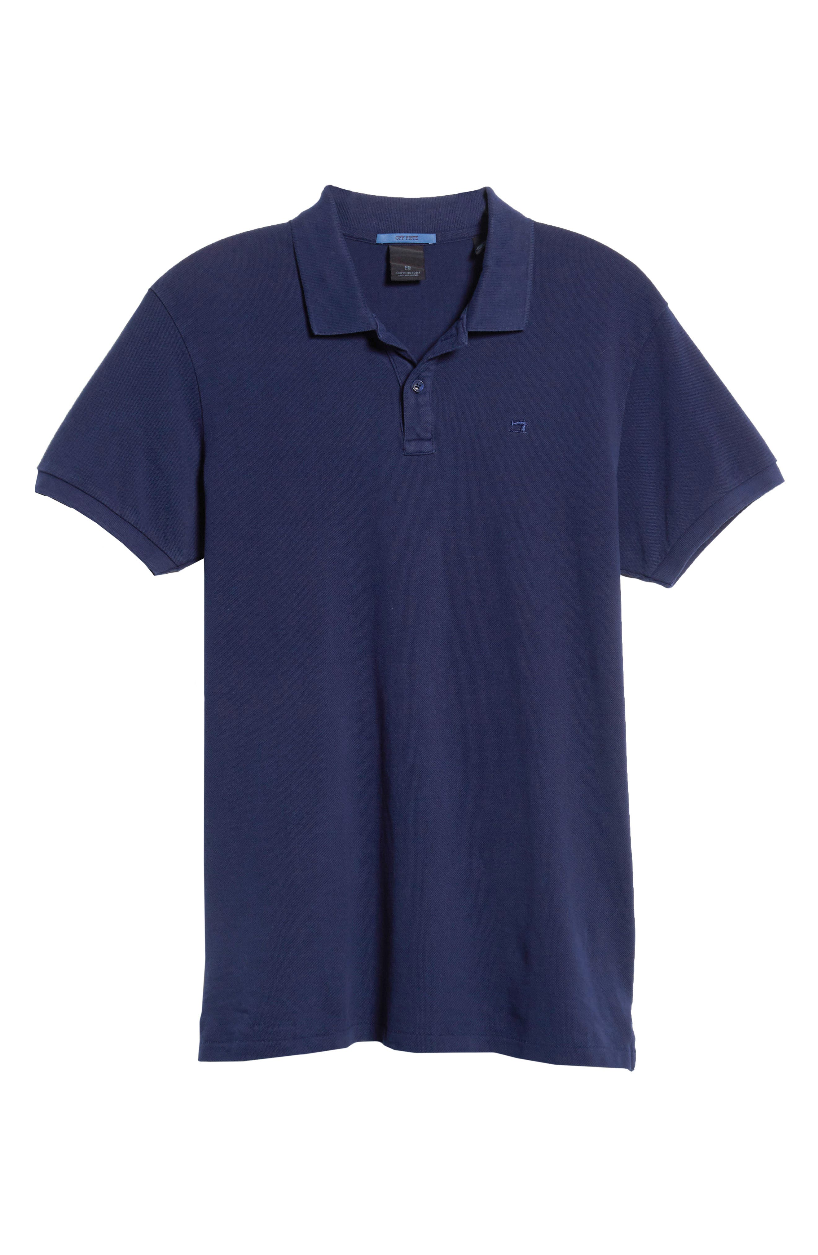 Garment Dyed Piqué Polo,                             Alternate thumbnail 6, color,                             410