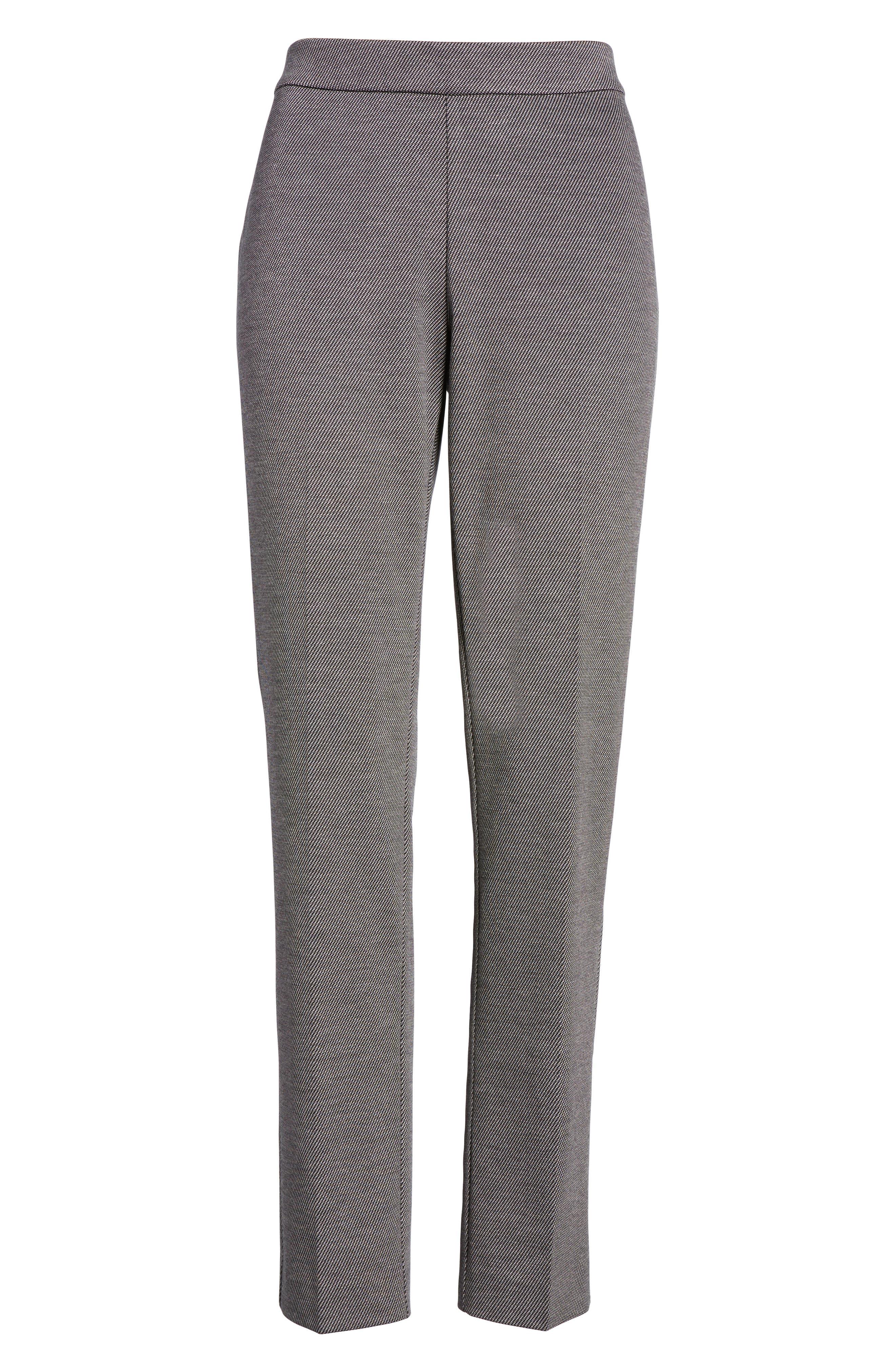 Slim Twill Ponte Knit Pants,                             Alternate thumbnail 6, color,                             020