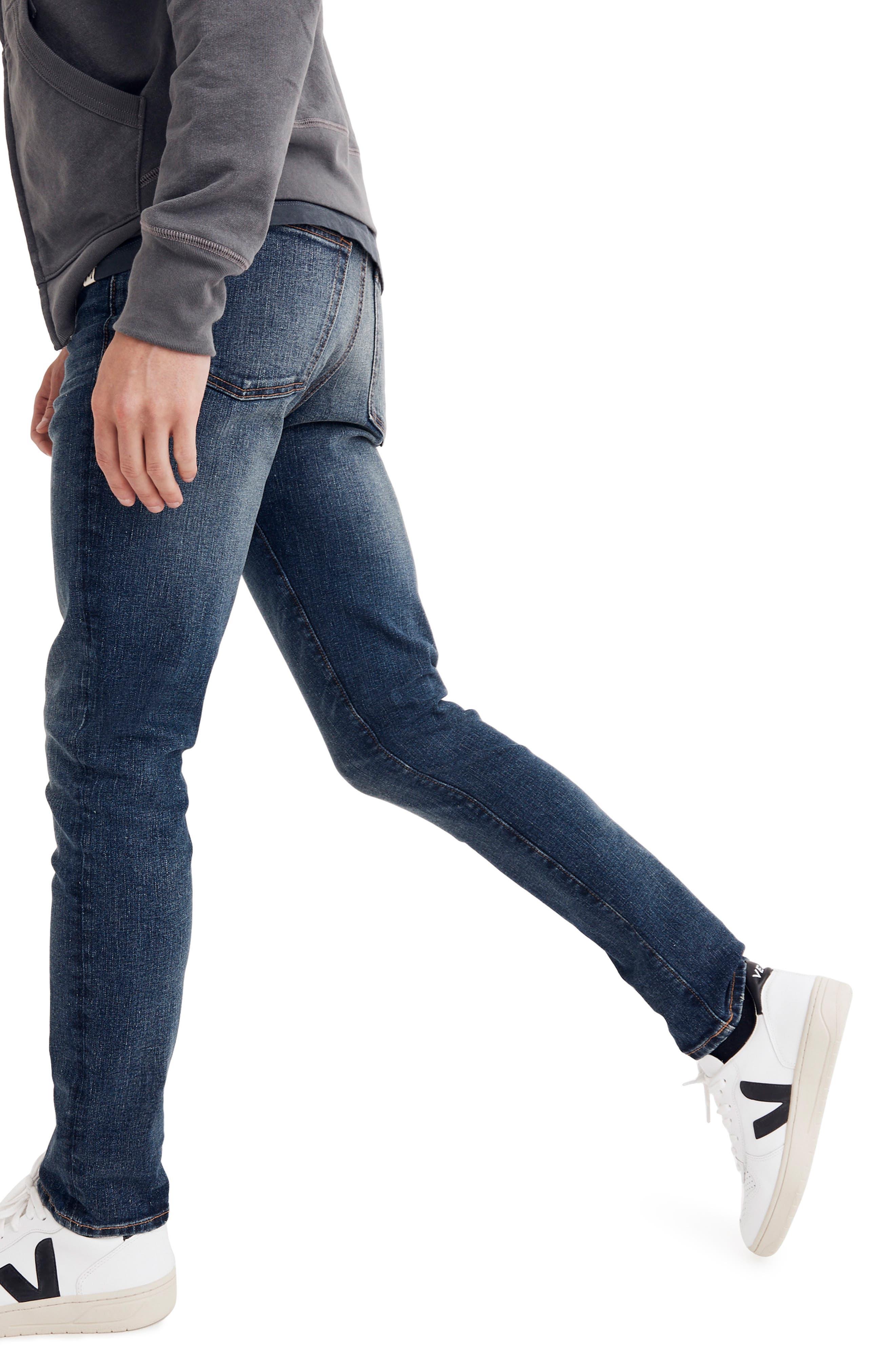 Skinny Fit Jeans,                             Alternate thumbnail 3, color,                             MEDIUM WASH