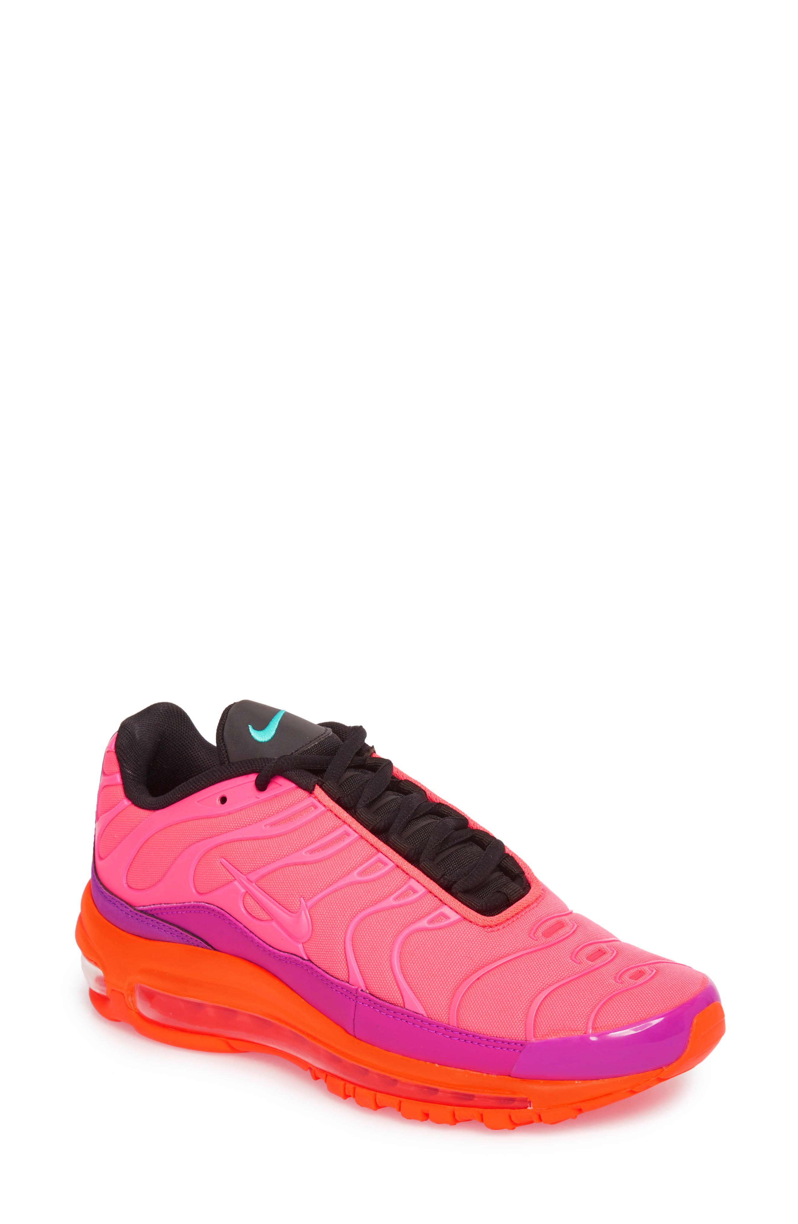 Air Max 97 Plus Sneaker,                         Main,                         color, RACER PINK/ MAGENTA/ CRIMSON