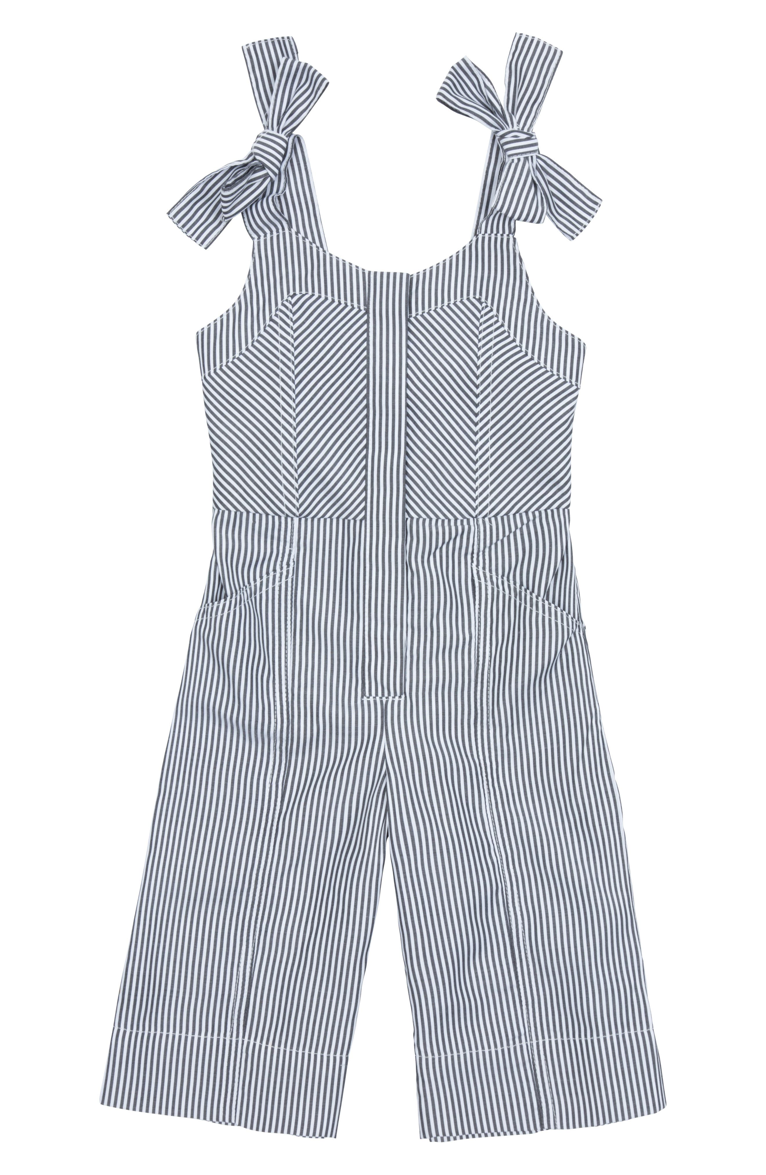 Toddler Girls Habitual Girl Whitney Stripe Jumpsuit Size 3T  Grey