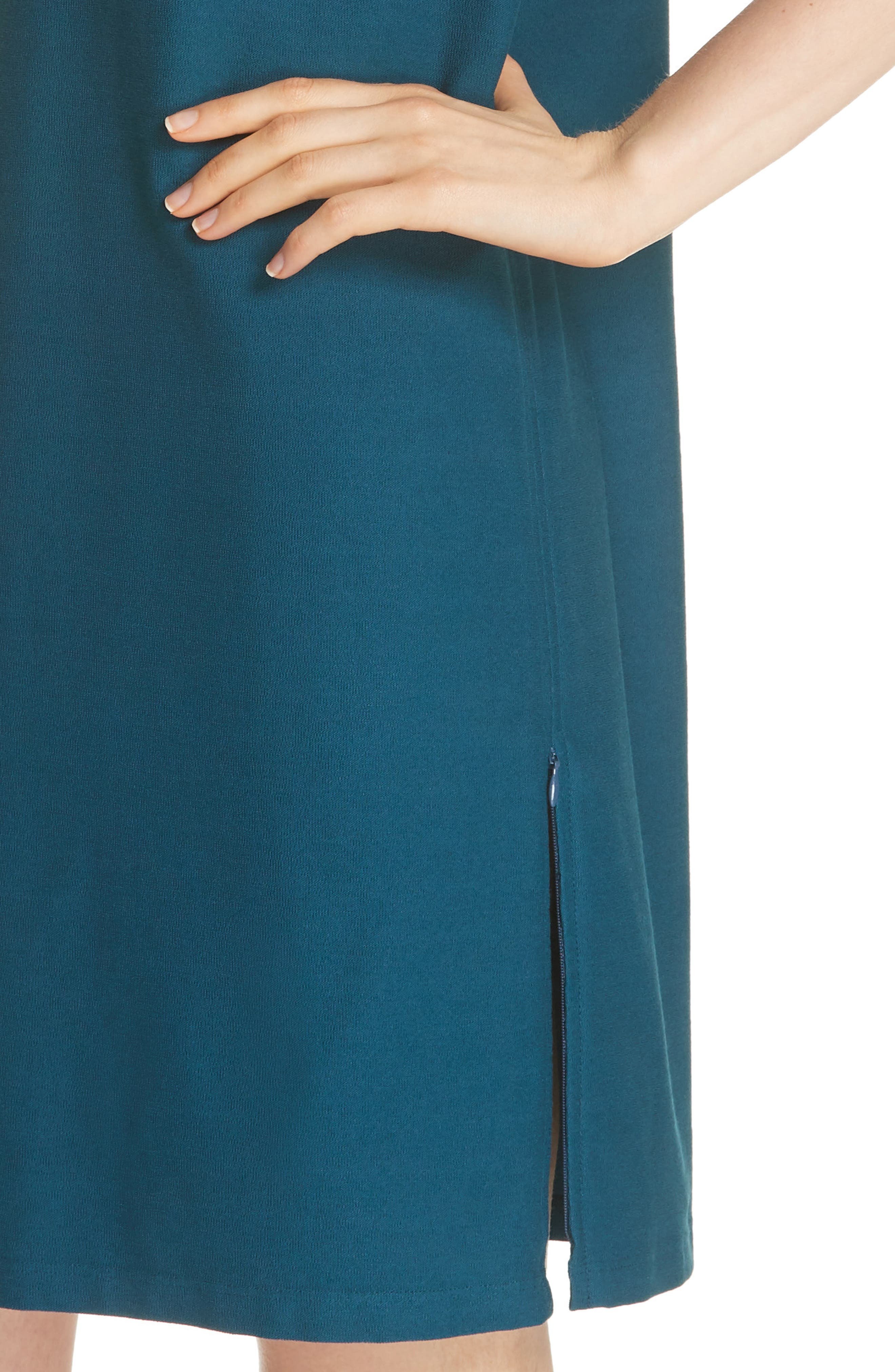 Side Zip Layering Dress,                             Alternate thumbnail 4, color,                             DARK JEWEL