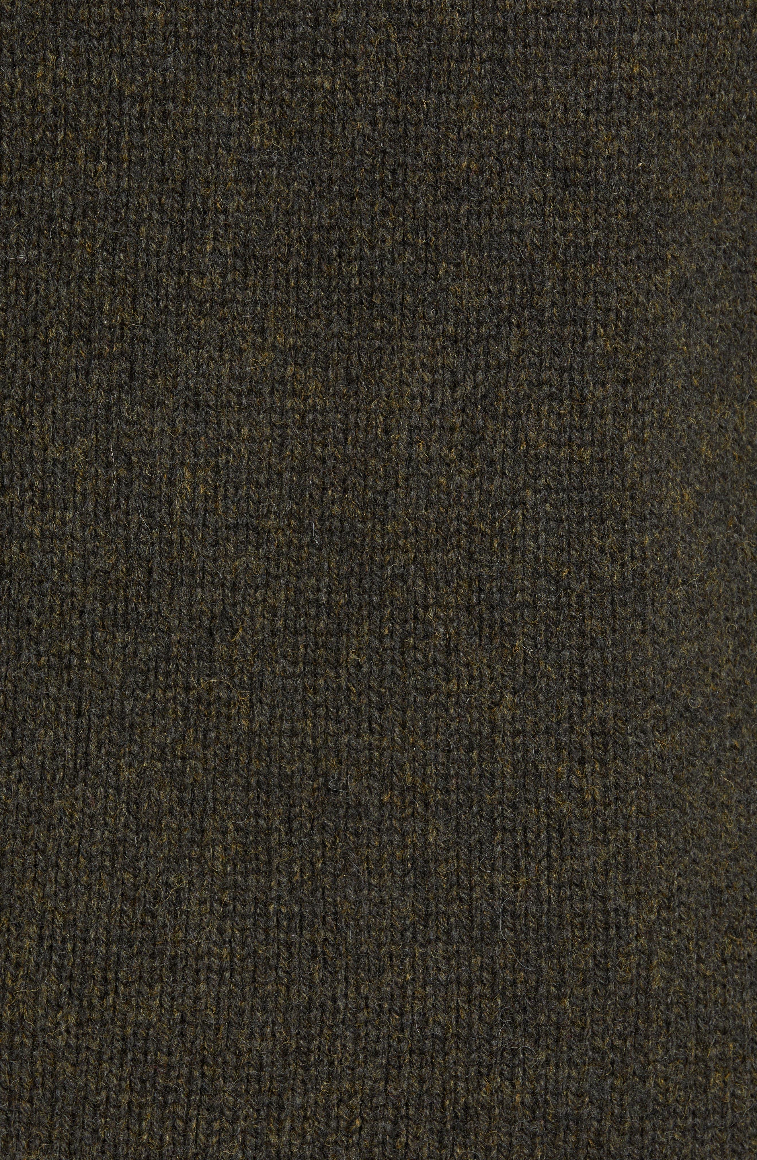 Free Regular Fit Shetland Wool Sweater,                             Alternate thumbnail 5, color,                             MIDNIGHT MOSS BLACK