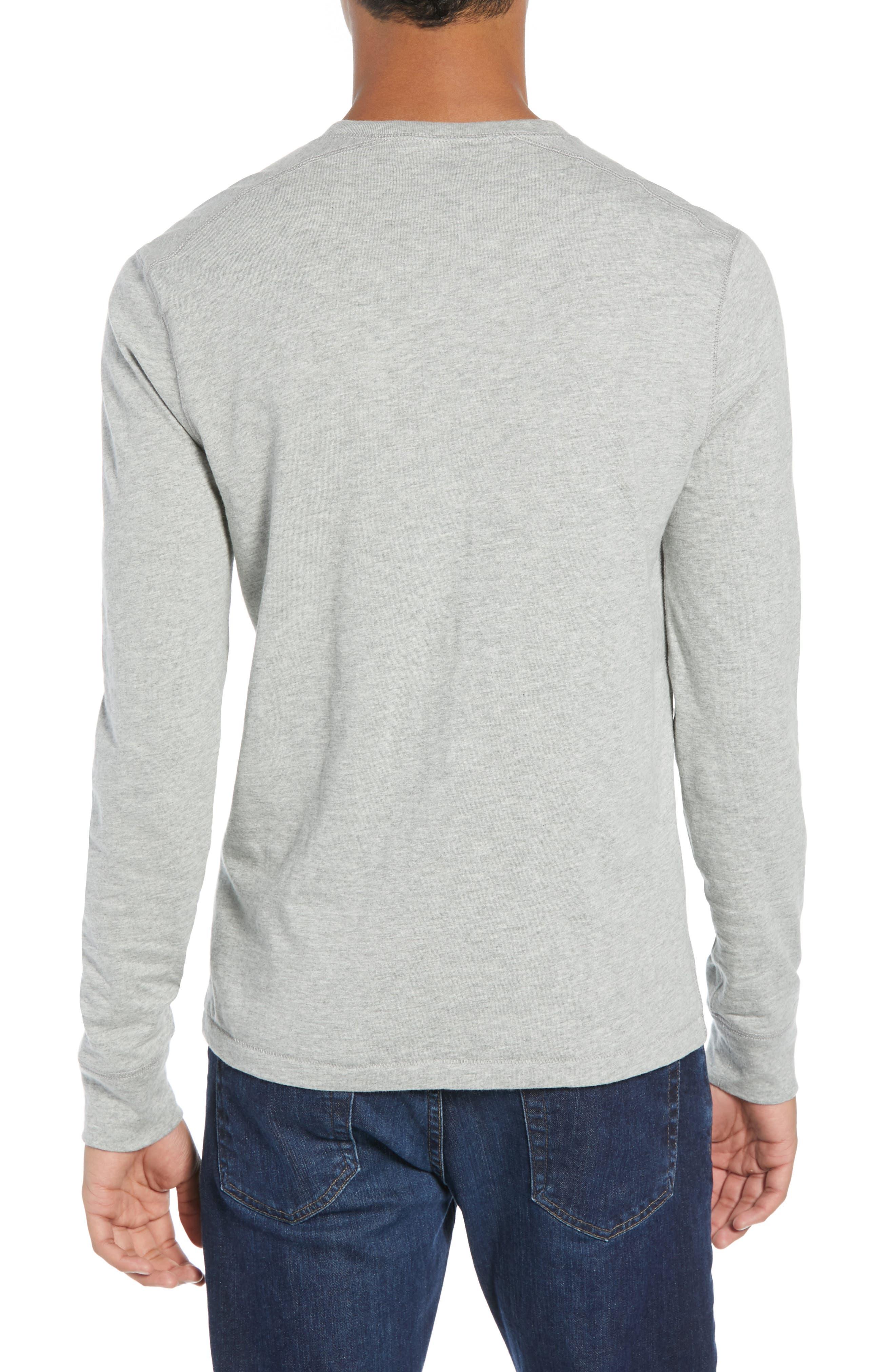Slim Fit Garment Dyed Slub Cotton Henley,                             Alternate thumbnail 2, color,                             020