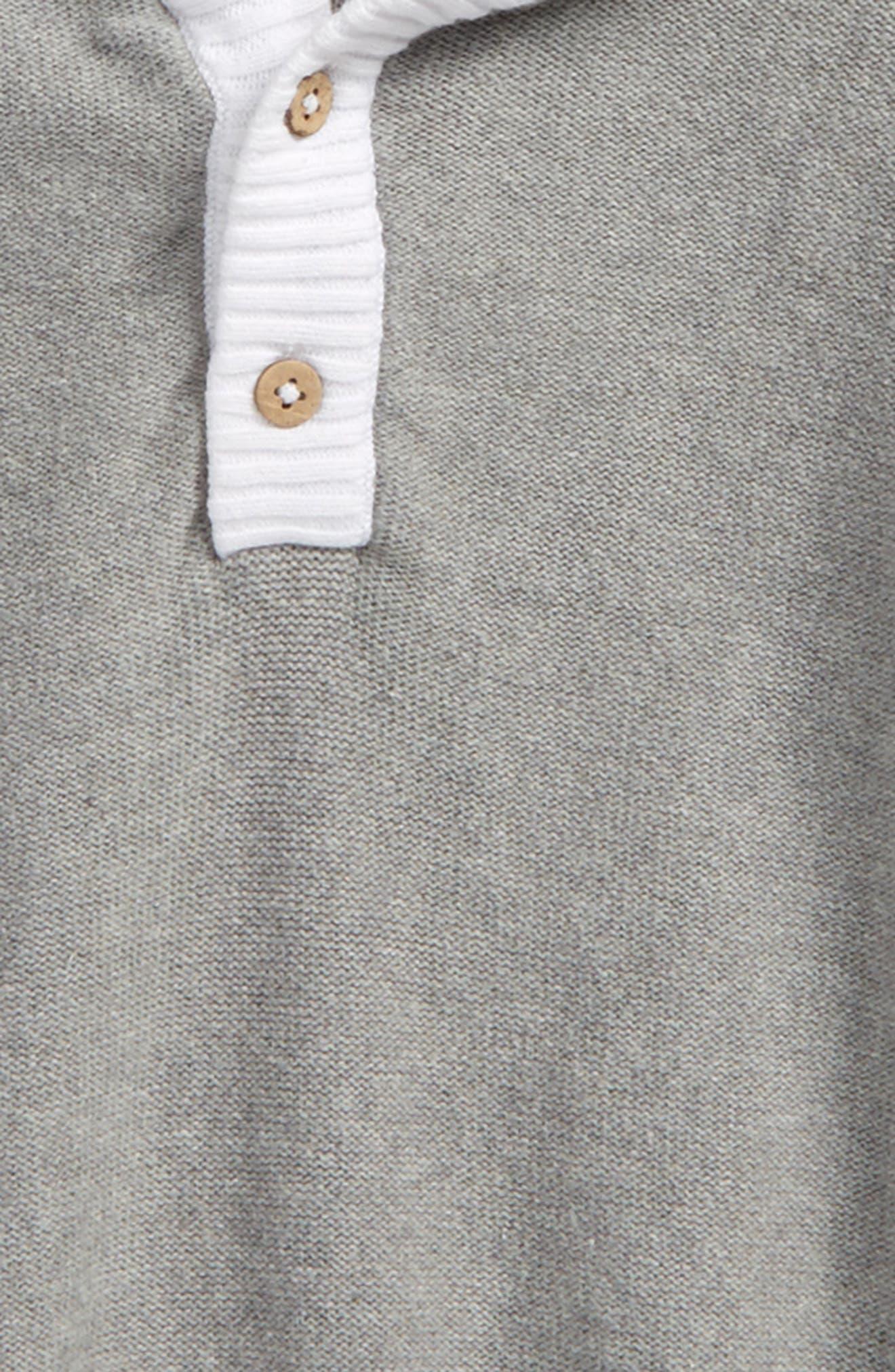 Organic Cotton Knit Hoodie,                             Alternate thumbnail 2, color,                             050