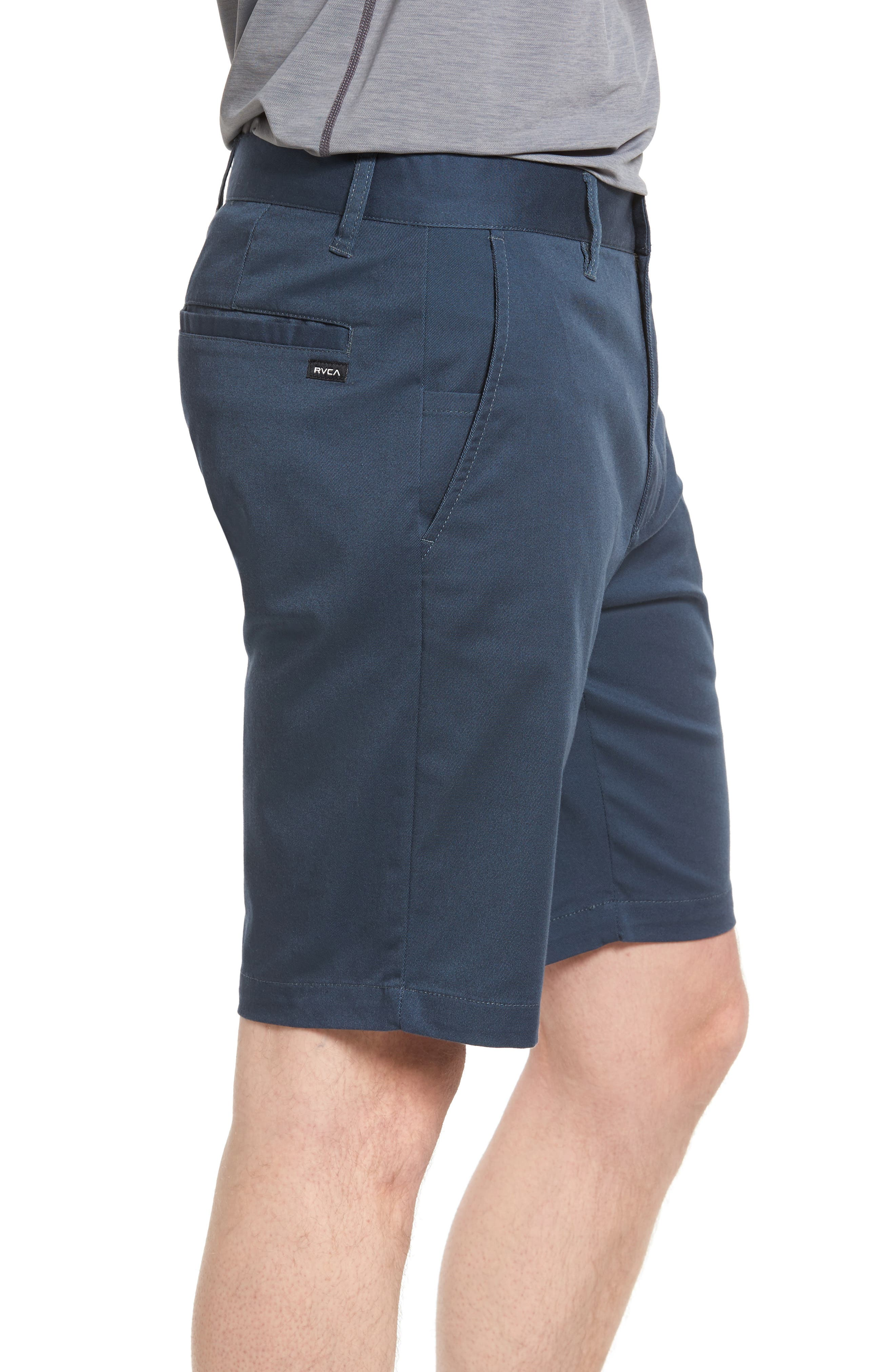 The Week-End Stretch Twill Chino Shorts,                             Alternate thumbnail 3, color,                             SMOKE