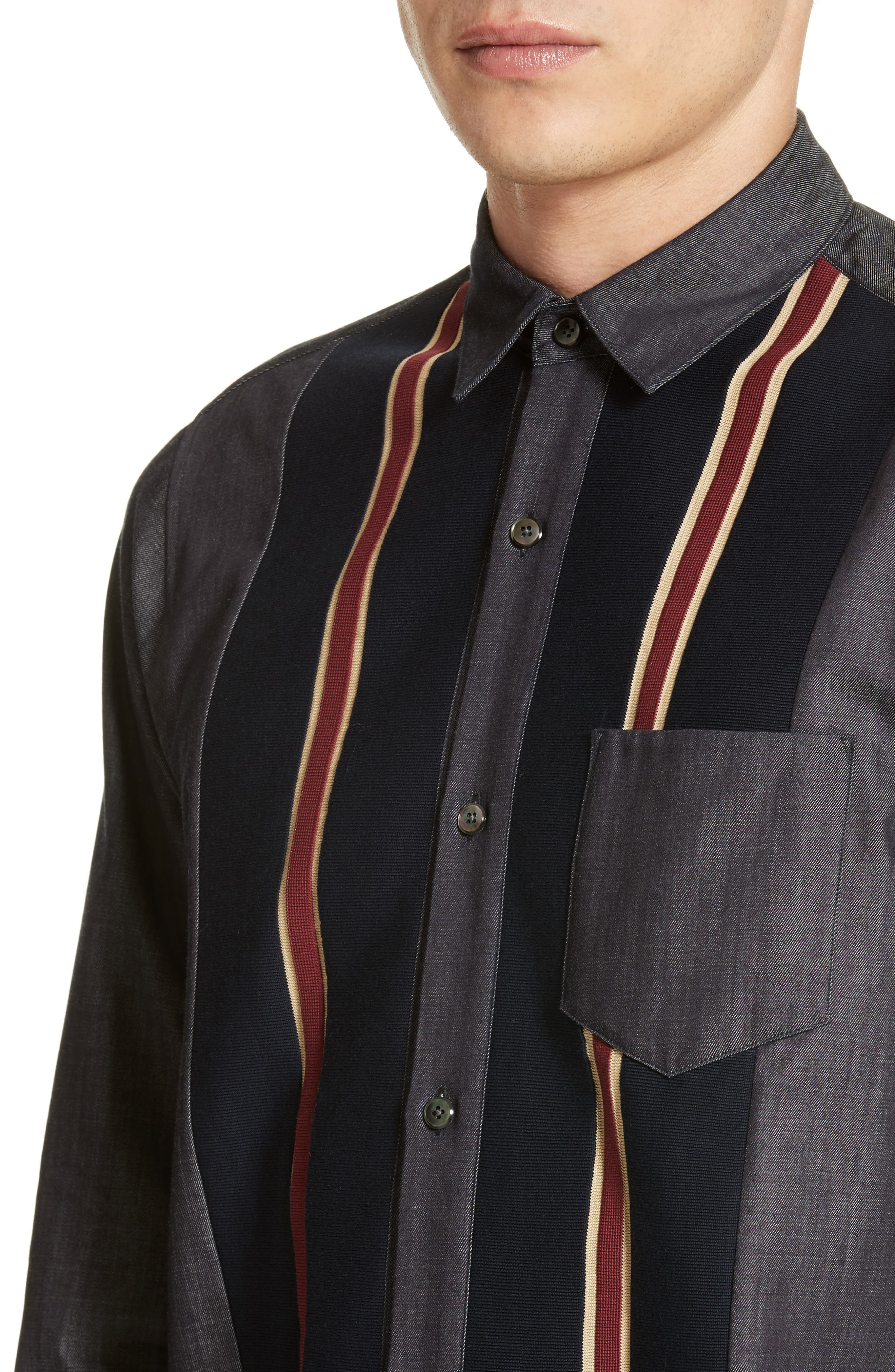 Tricot Stripe Sport Shirt,                             Alternate thumbnail 4, color,                             400