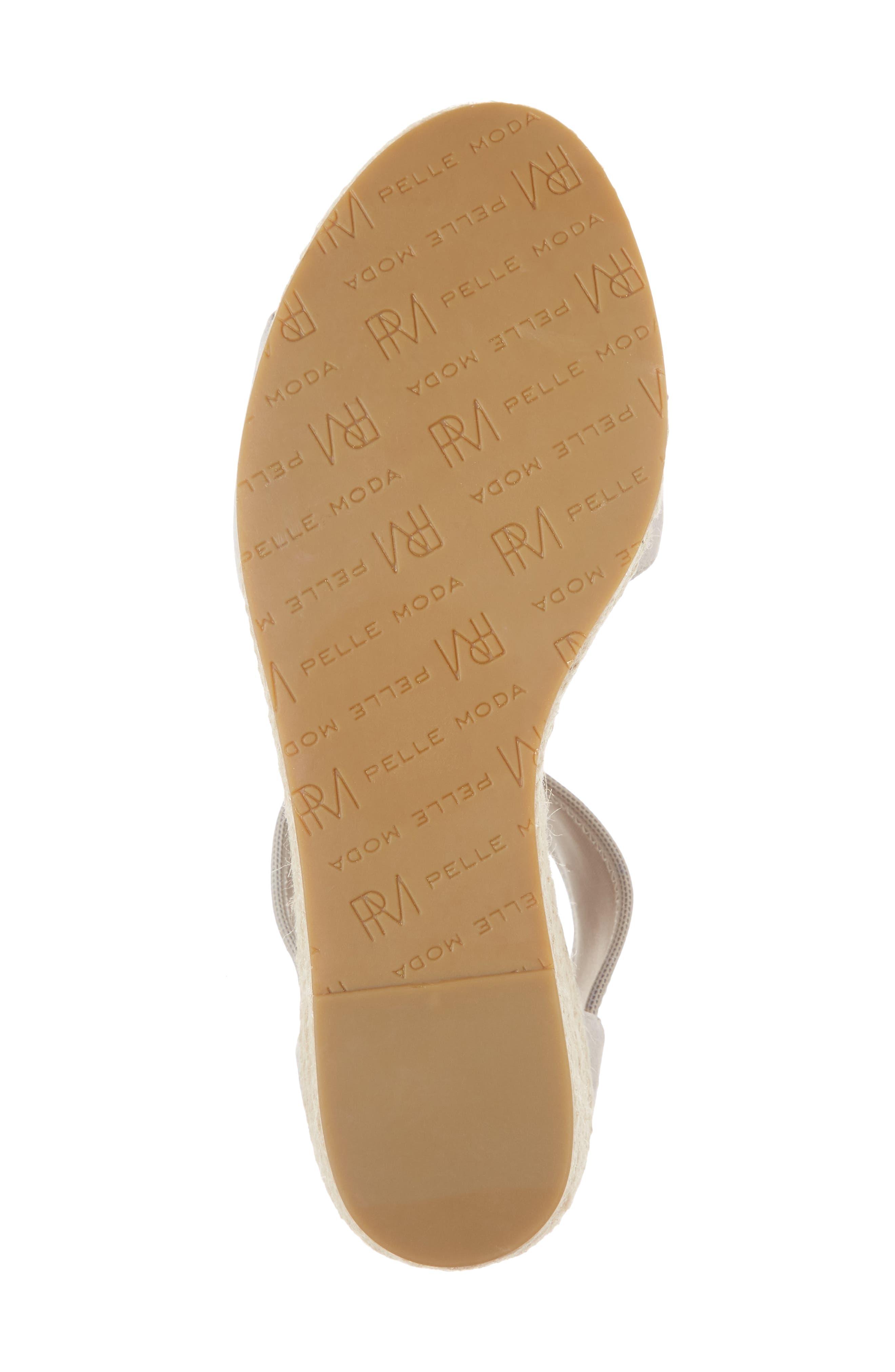 Kona Platform Wedge Sandal,                             Alternate thumbnail 6, color,                             CLOUD SUEDE