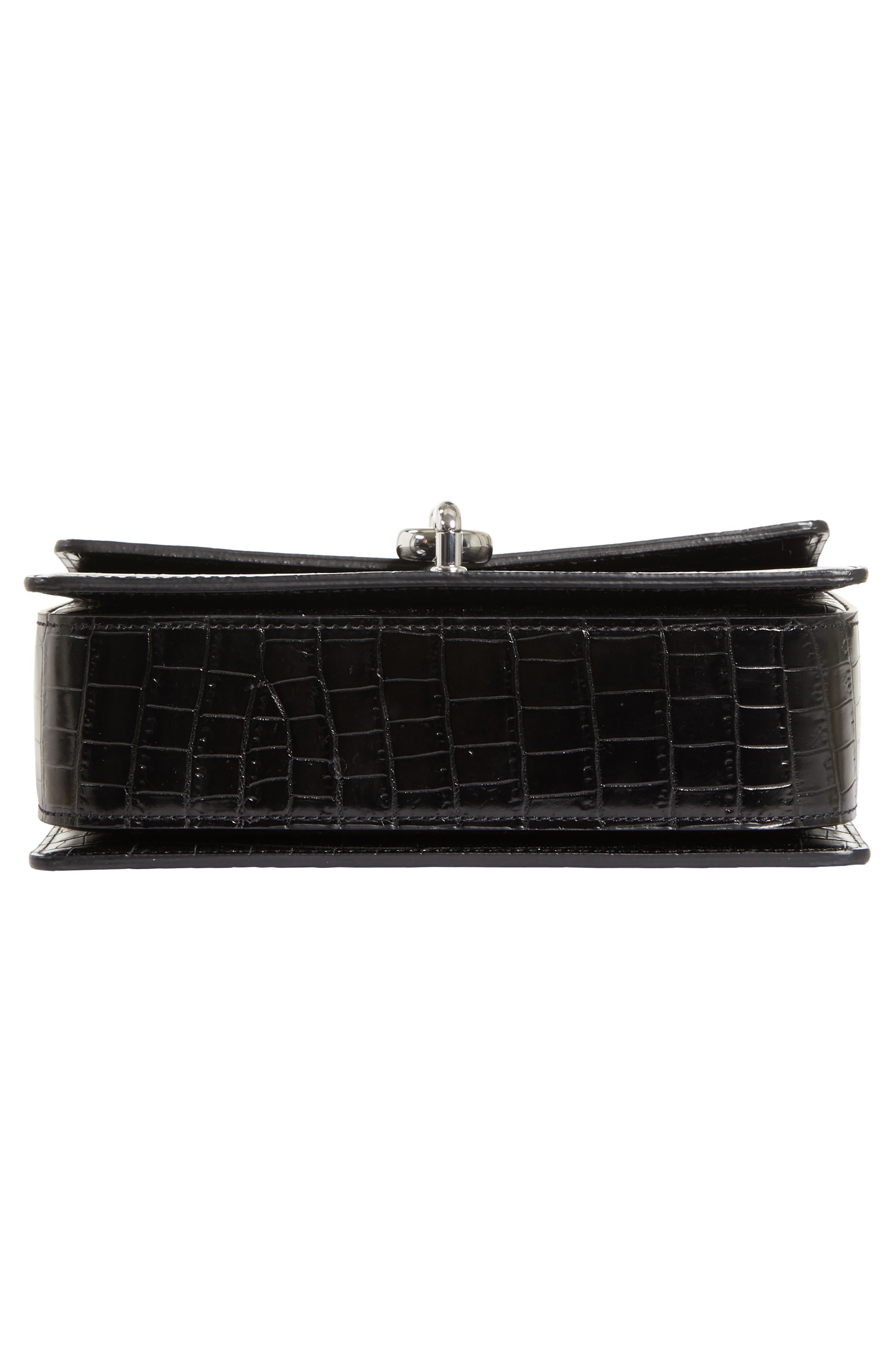 Hook Medium Leather Shoulder/Crossbody Bag,                             Alternate thumbnail 6, color,                             001