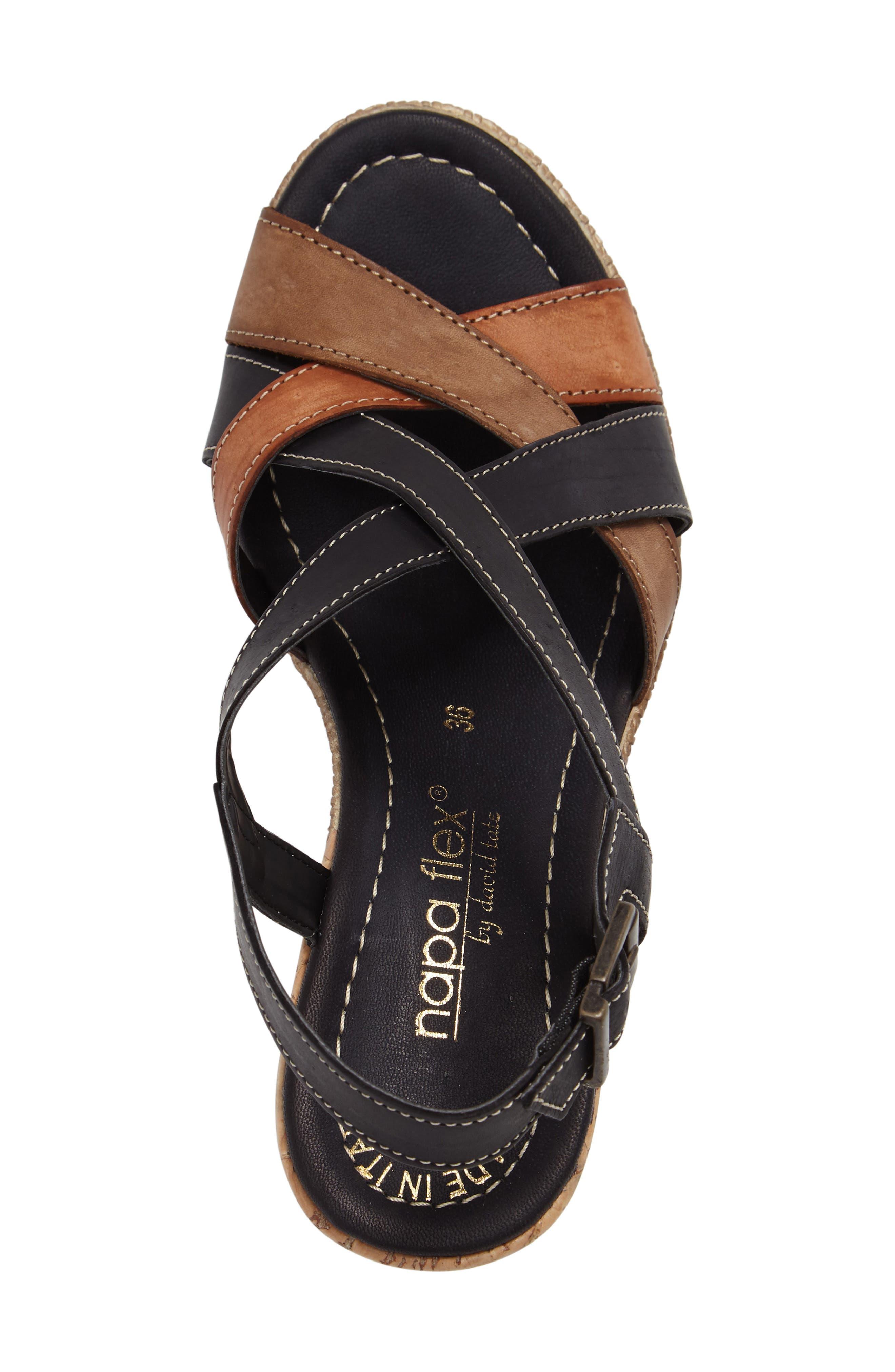 Modena Wedge Sandal,                             Alternate thumbnail 3, color,                             001
