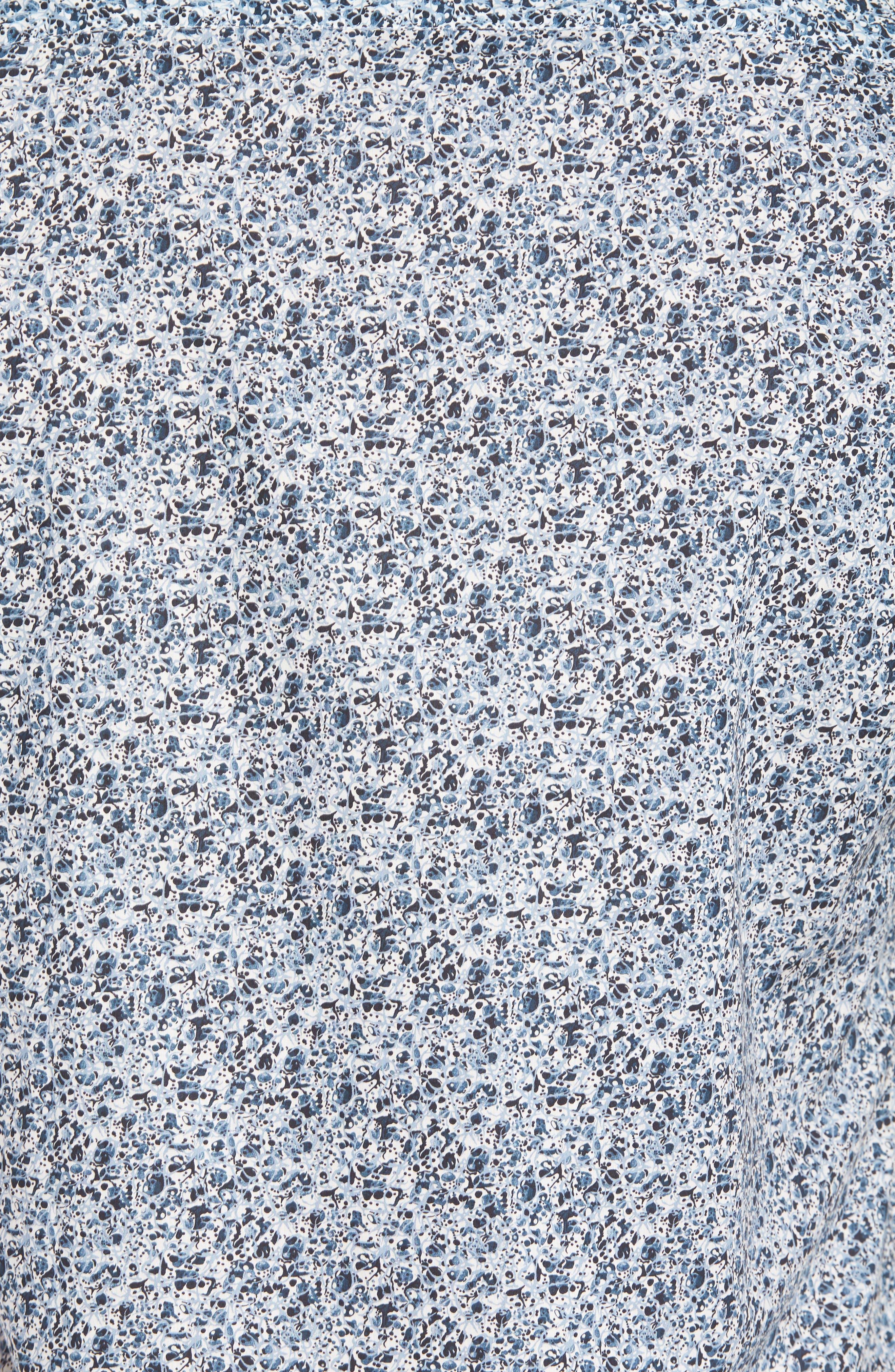 Speckle Print Sport Shirt,                             Alternate thumbnail 5, color,                             BLUE SPECKLE