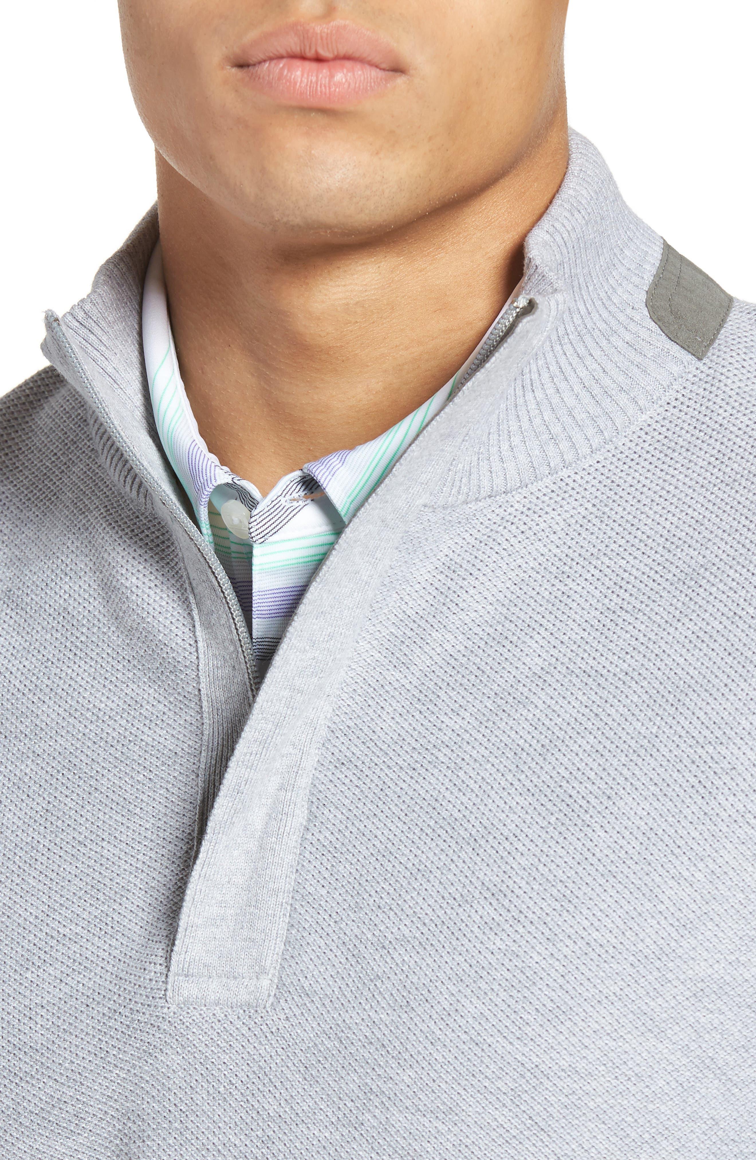 Piqué Jersey Quarter Zip Golf Vest,                             Alternate thumbnail 4, color,                             078