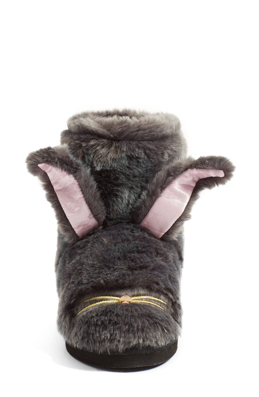 KATE SPADE NEW YORK,                             'bethie' faux fur bunny slipper,                             Alternate thumbnail 4, color,                             034