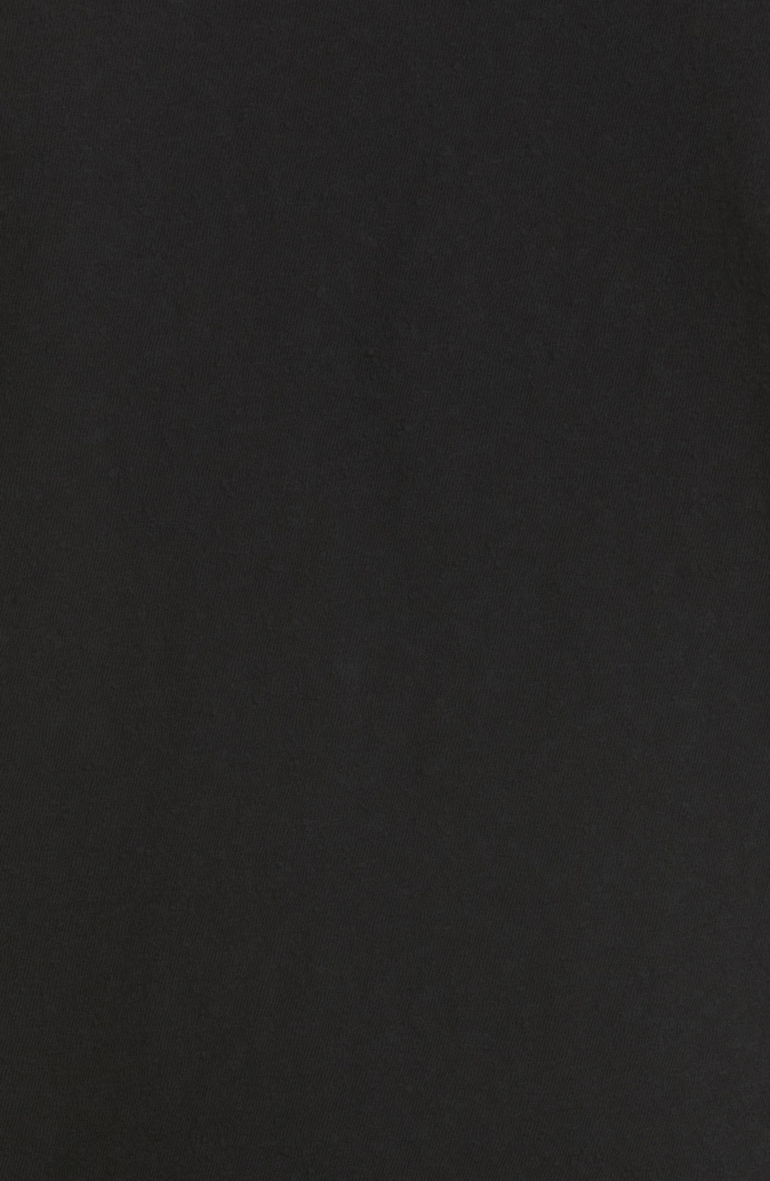 Canton Slub Cotton Tee,                             Alternate thumbnail 5, color,                             BLACK