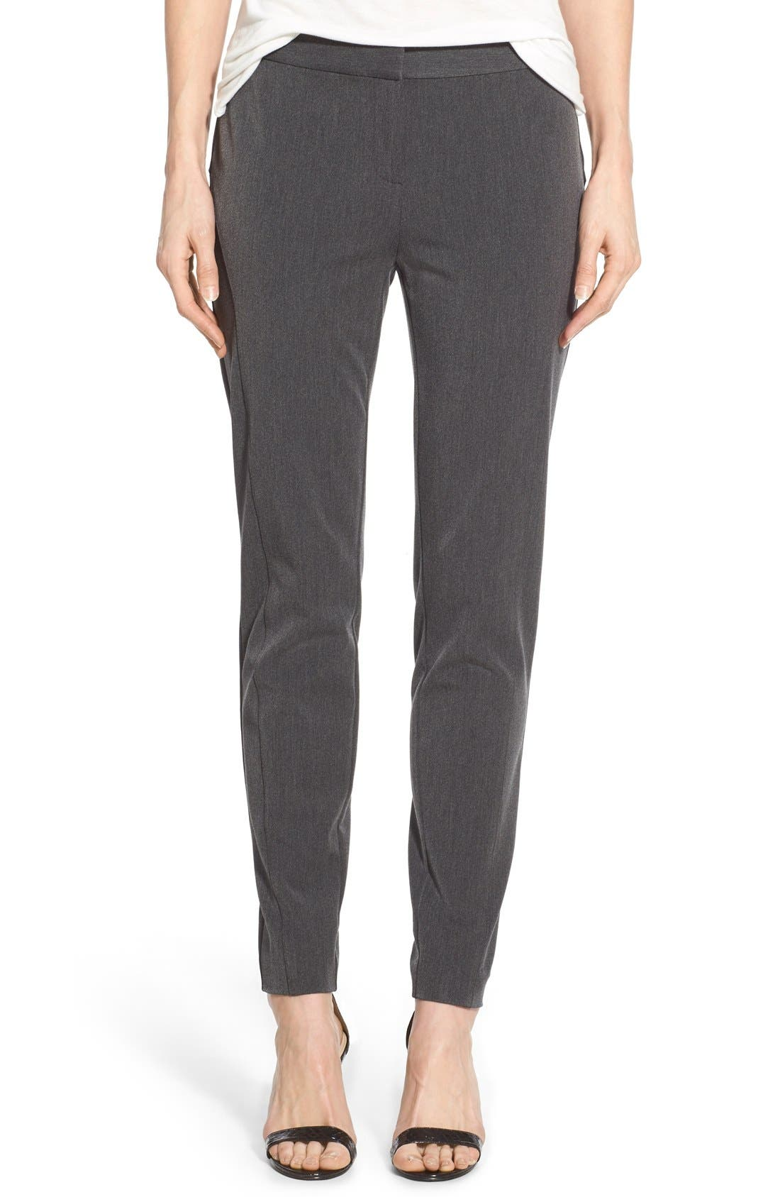 Stretch Twill Skinny Pants,                             Main thumbnail 1, color,                             DARK HEATHER GREY