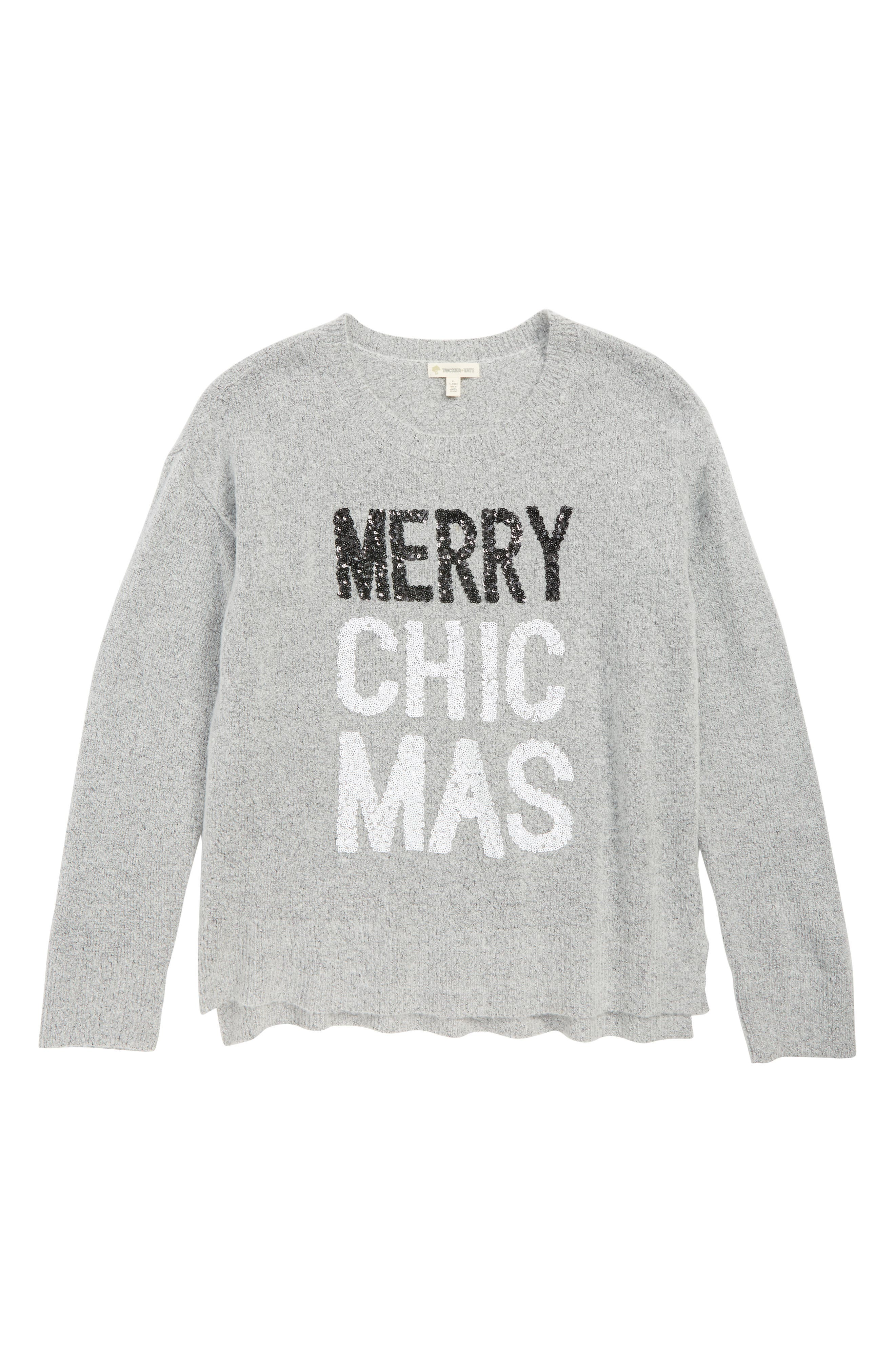Sparkle Holiday Icon Sweater,                         Main,                         color, GREY ASH HEATHER CHICMAS