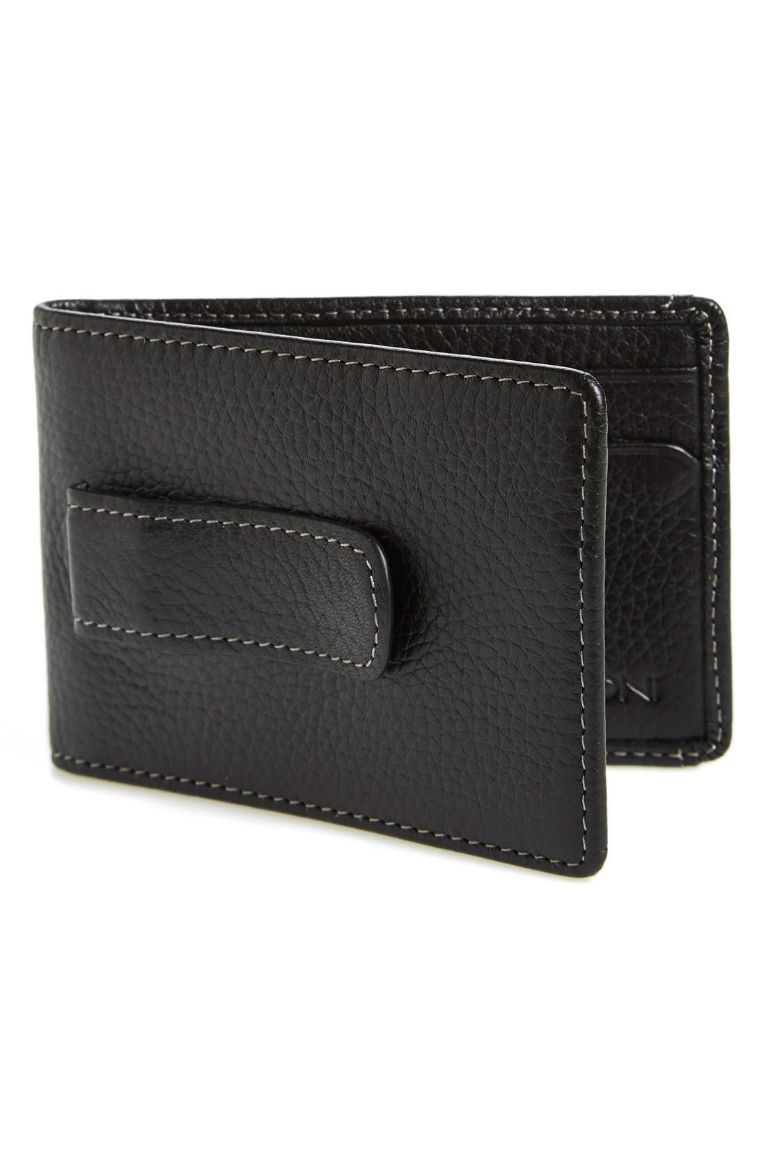 'Tyler' Money Clip Wallet,                             Main thumbnail 1, color,                             001
