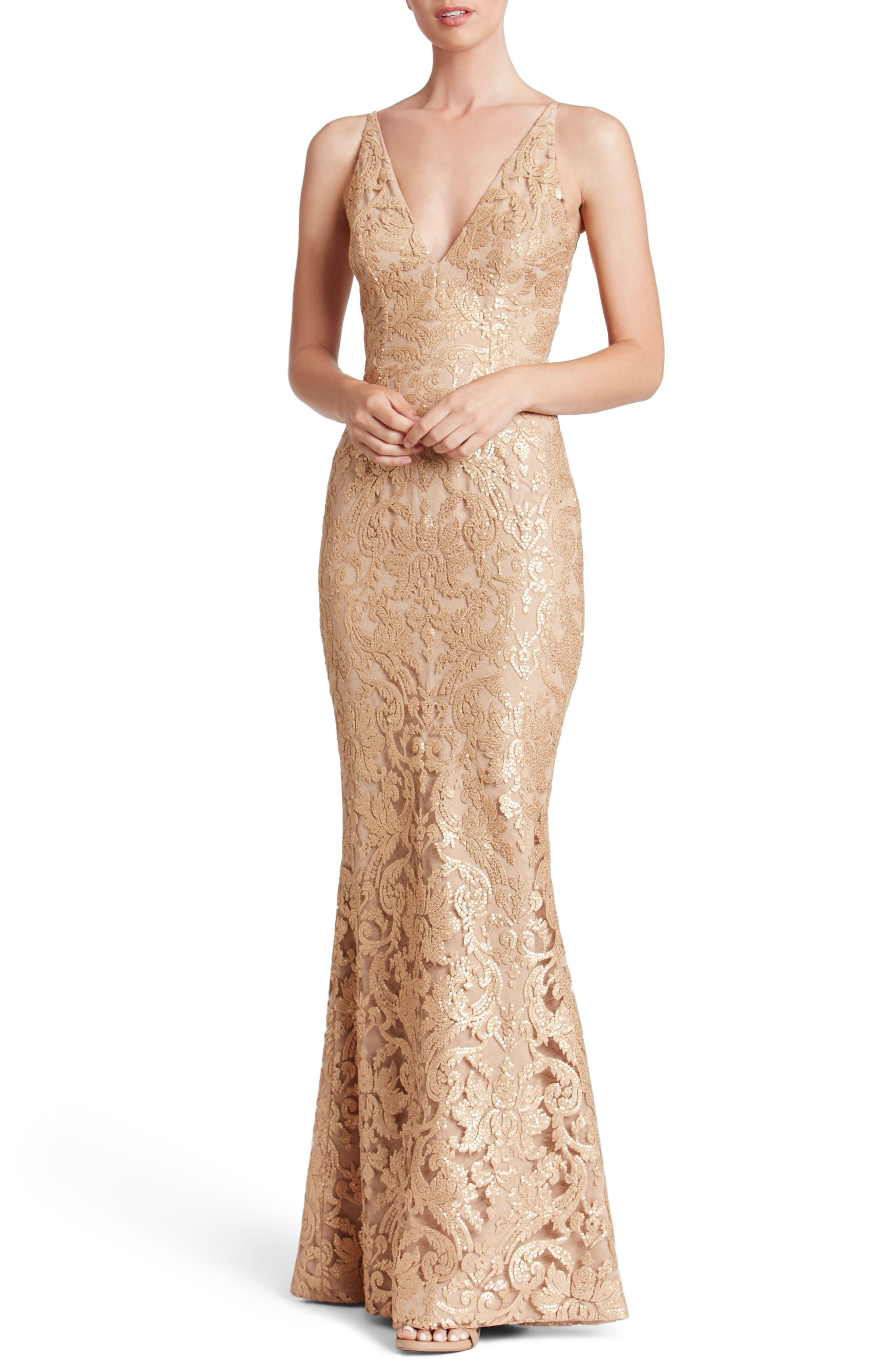 Karen Mermaid Gown,                             Main thumbnail 3, color,