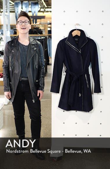Elaine Boiled Wool Blend Coat, sales video thumbnail
