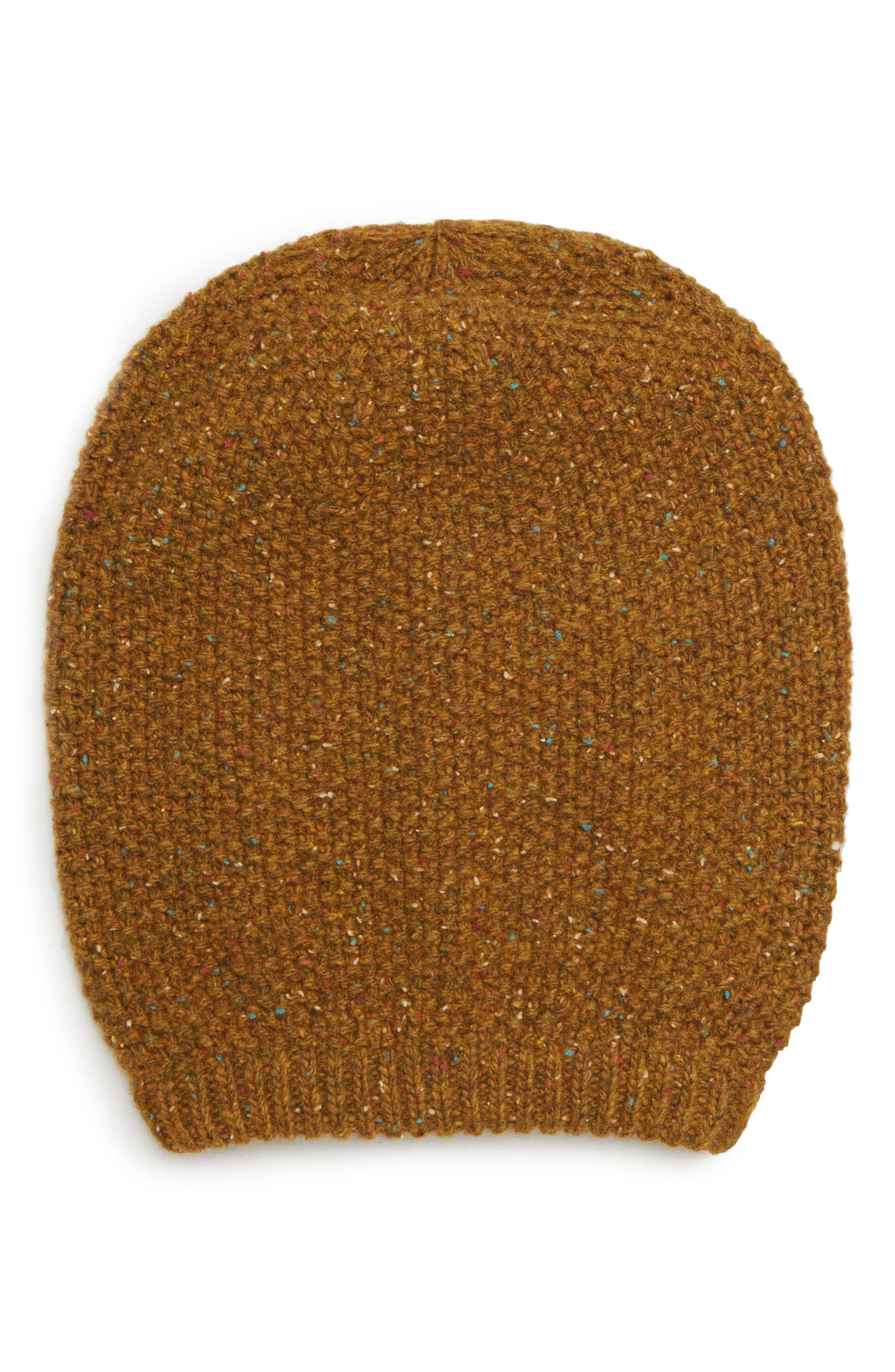 Knit Beanie,                             Main thumbnail 1, color,                             MUSTARD