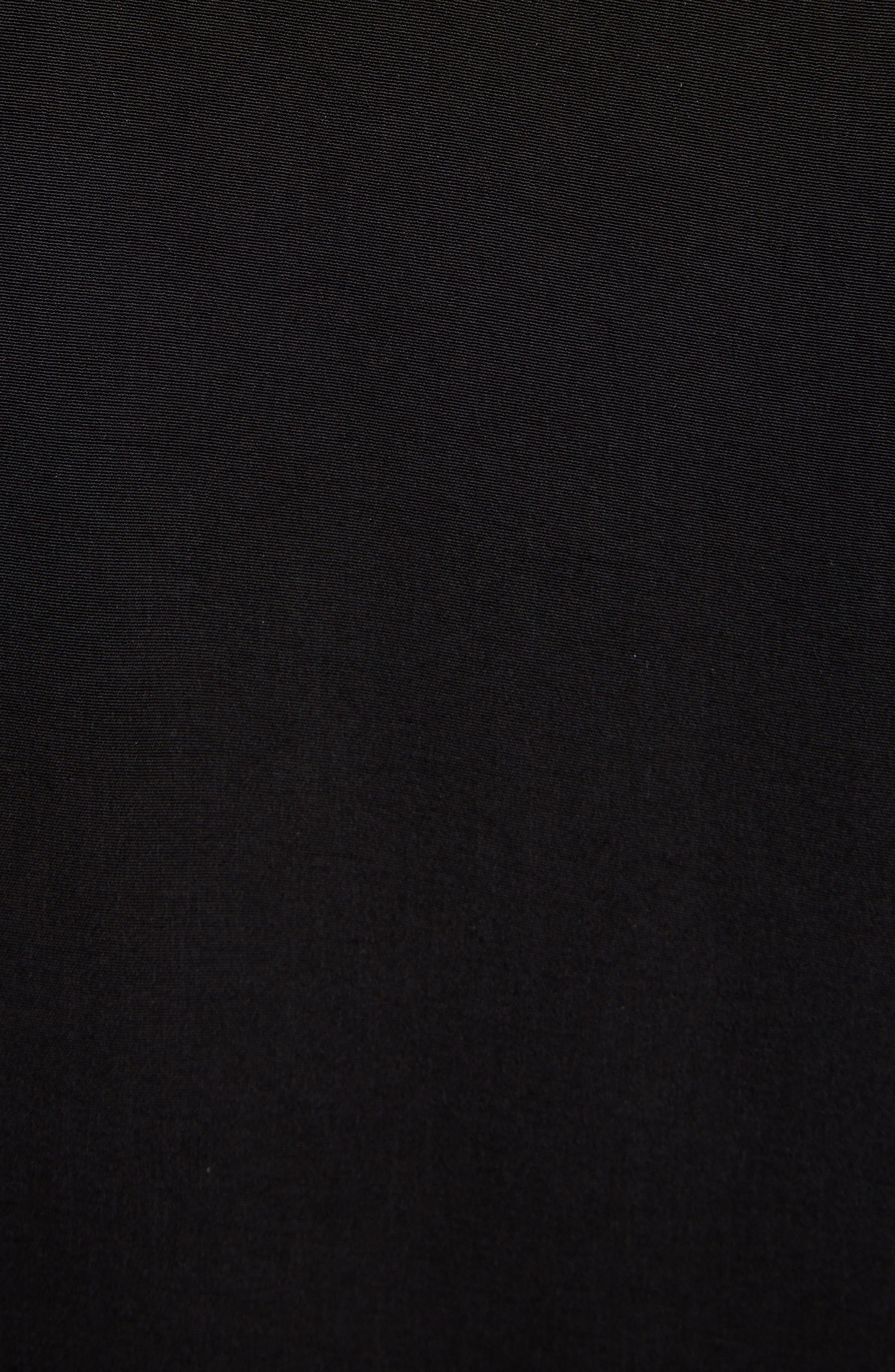 Pleat Detail Sleeveless Dress,                             Alternate thumbnail 5, color,                             BLACK