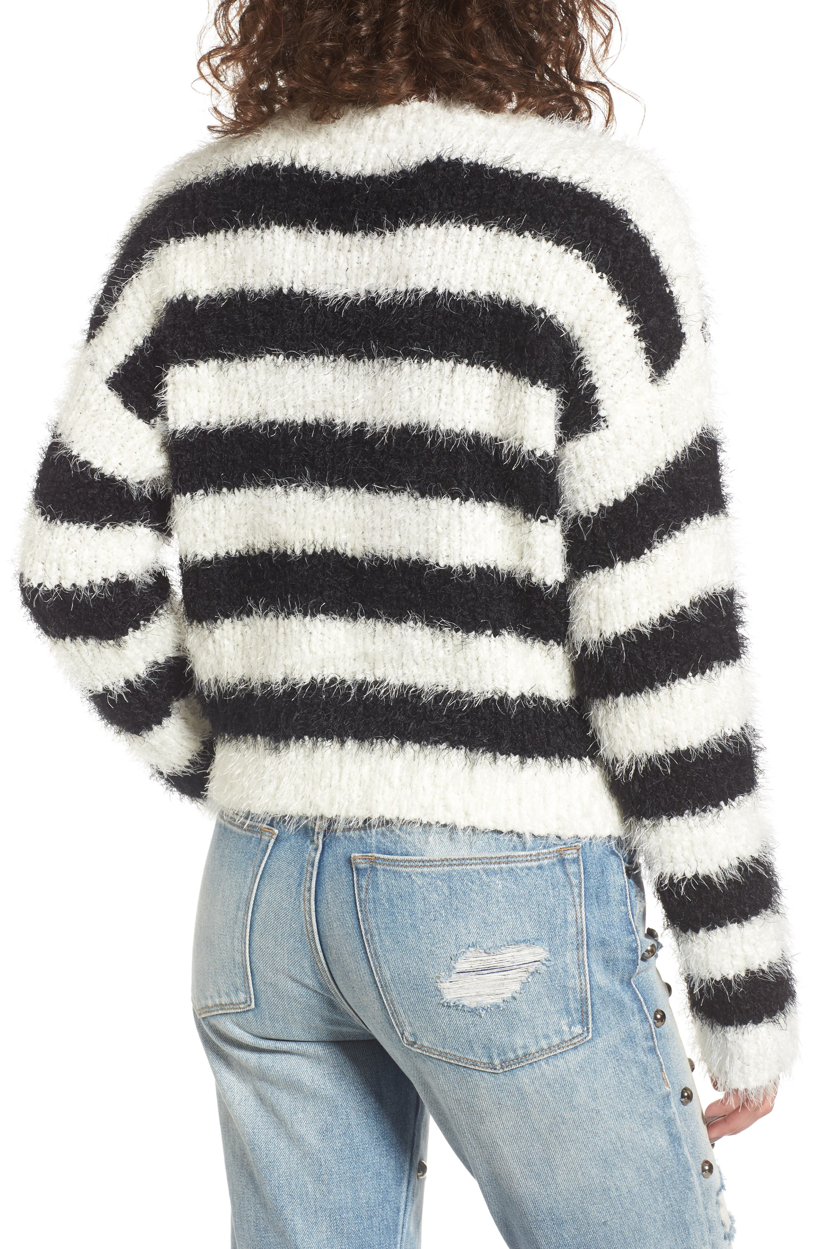 Stripe Slouchy Pullover,                             Alternate thumbnail 2, color,                             907