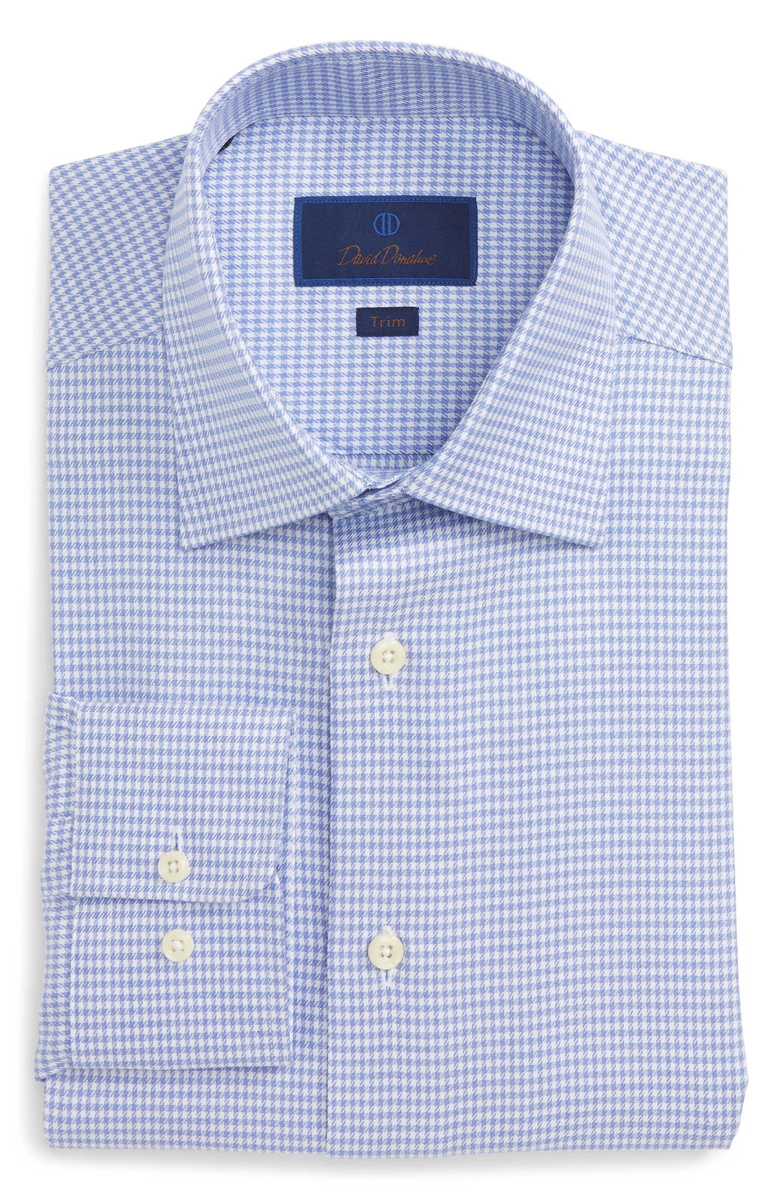 Trim Fit Houndstooth Dress Shirt,                             Main thumbnail 1, color,                             423