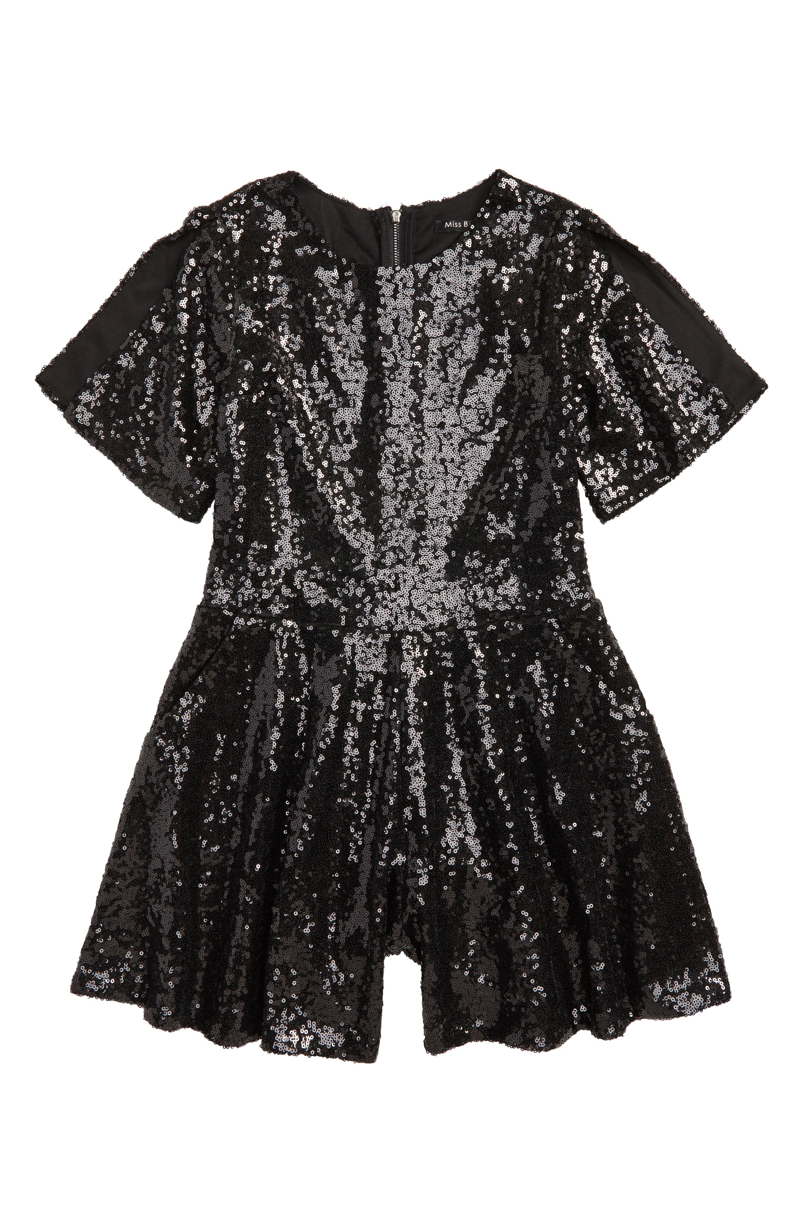 Bling Olivia Sequin Romper,                             Main thumbnail 1, color,