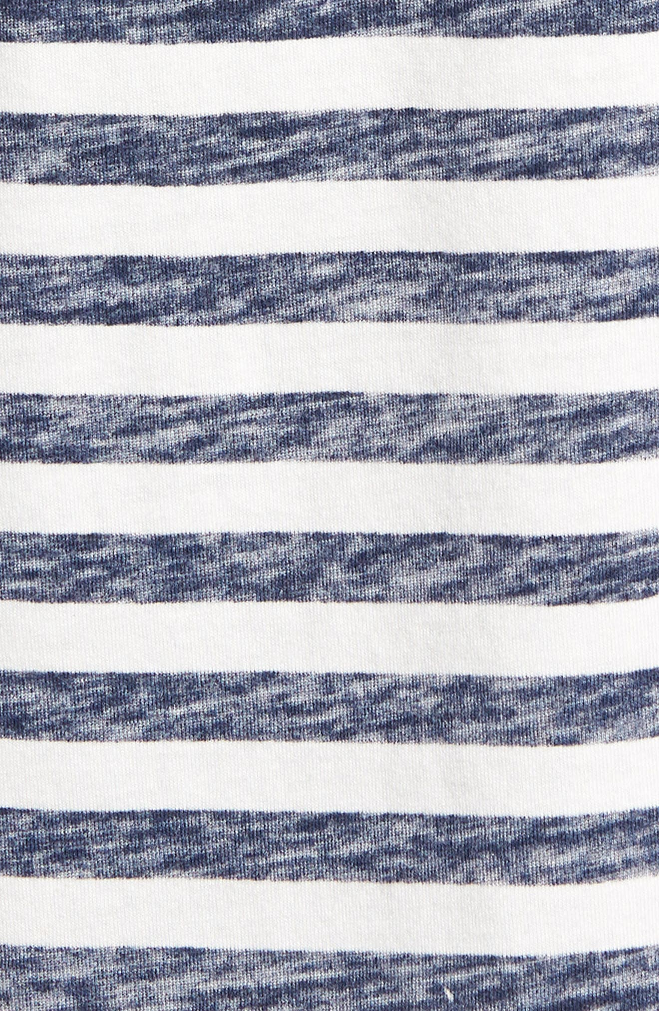Stripe T-Shirt,                             Alternate thumbnail 5, color,                             NAVY STRIPE