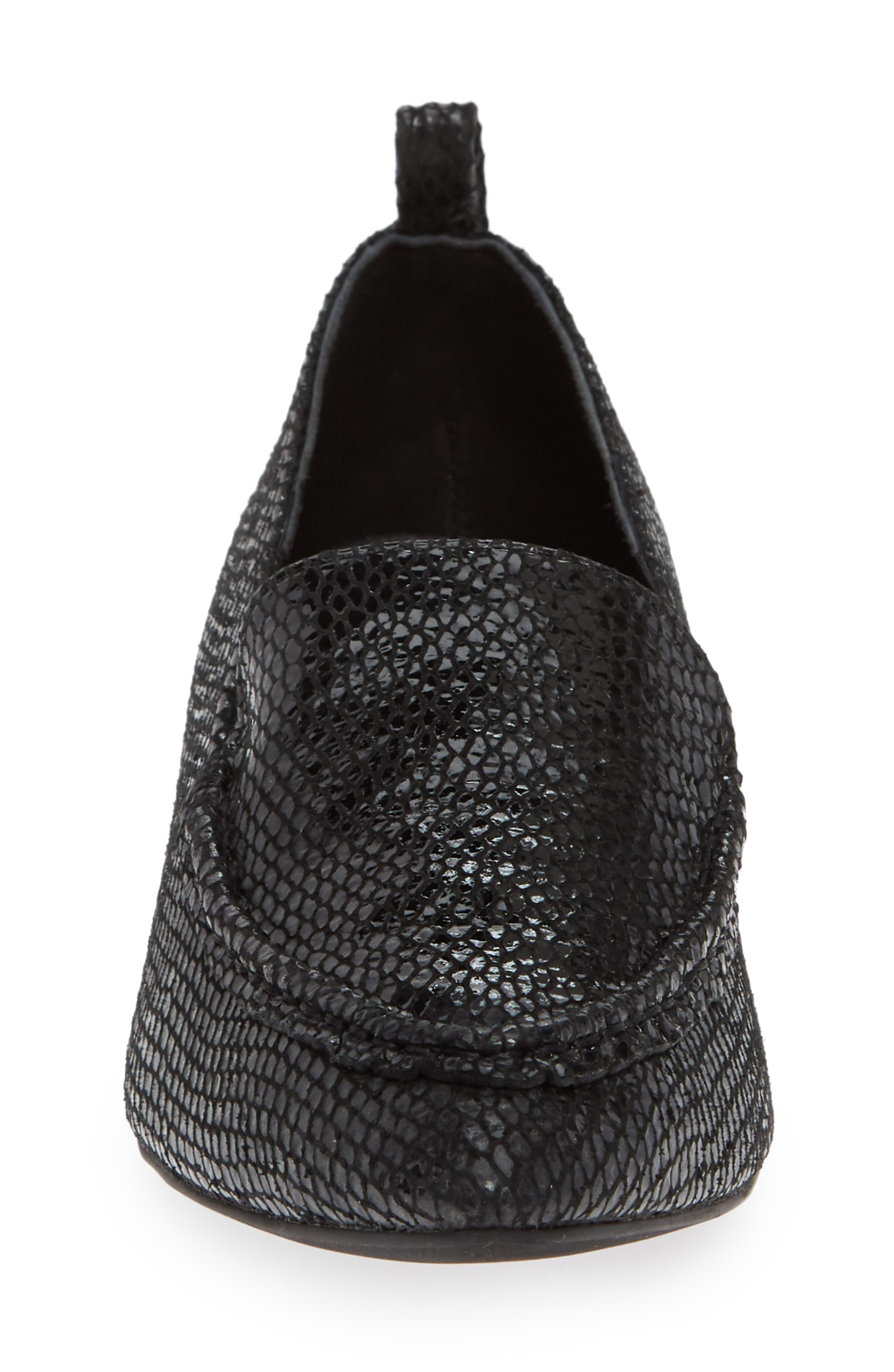 Barnett Studded Loafer,                             Alternate thumbnail 4, color,                             BLACK SNAKE SILVER