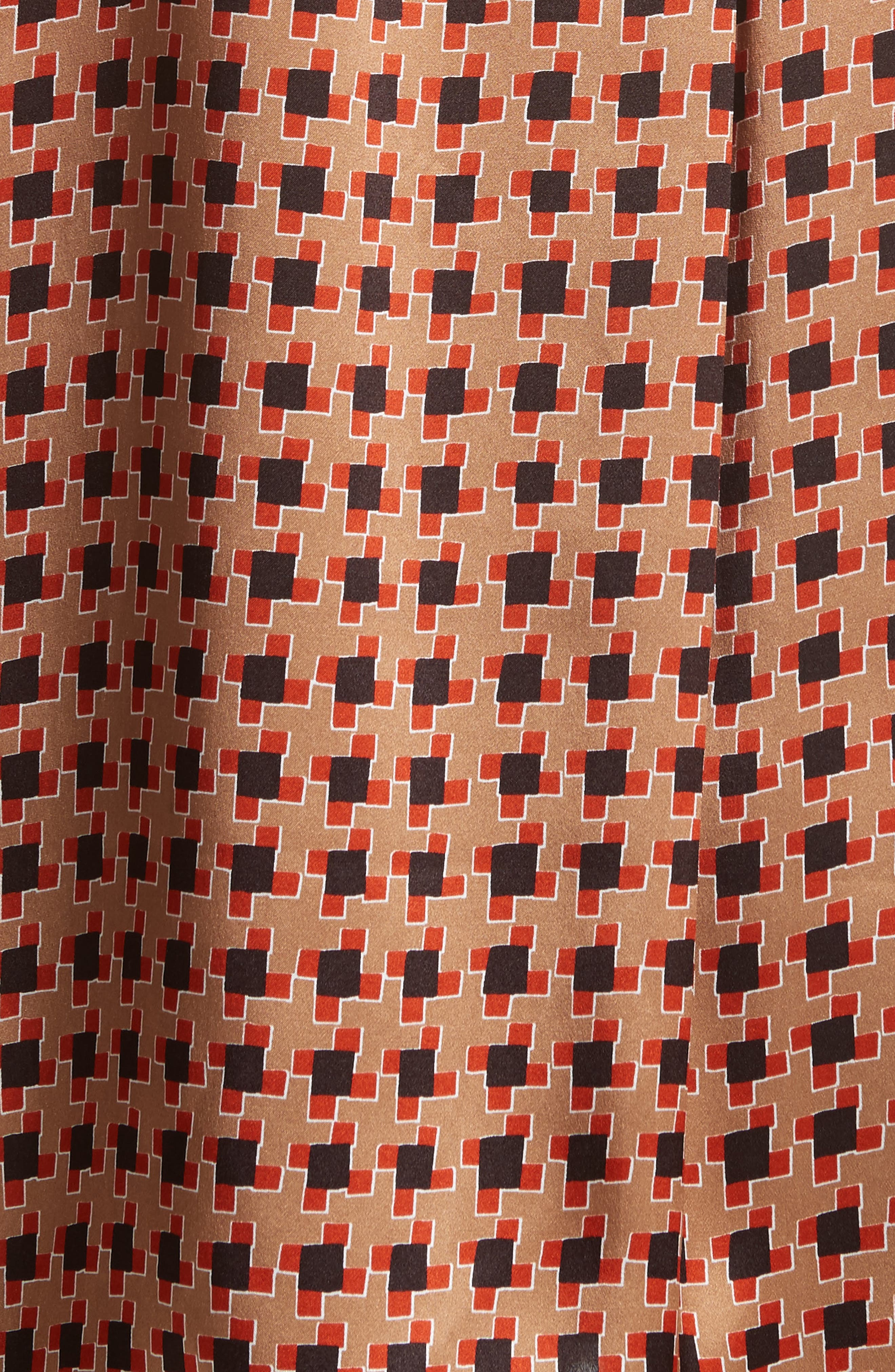 Desra Highgate Houndstooth Silk Tunic,                             Alternate thumbnail 5, color,