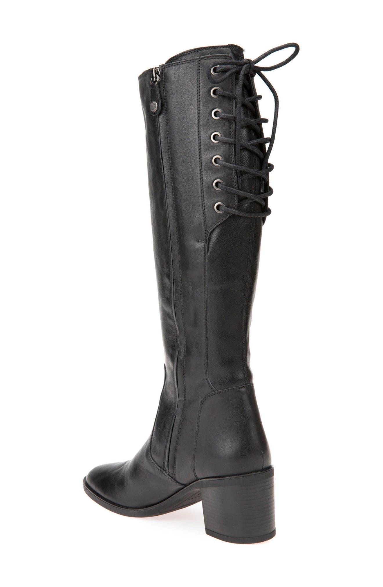 Glynna Knee High Boot,                             Alternate thumbnail 2, color,                             001