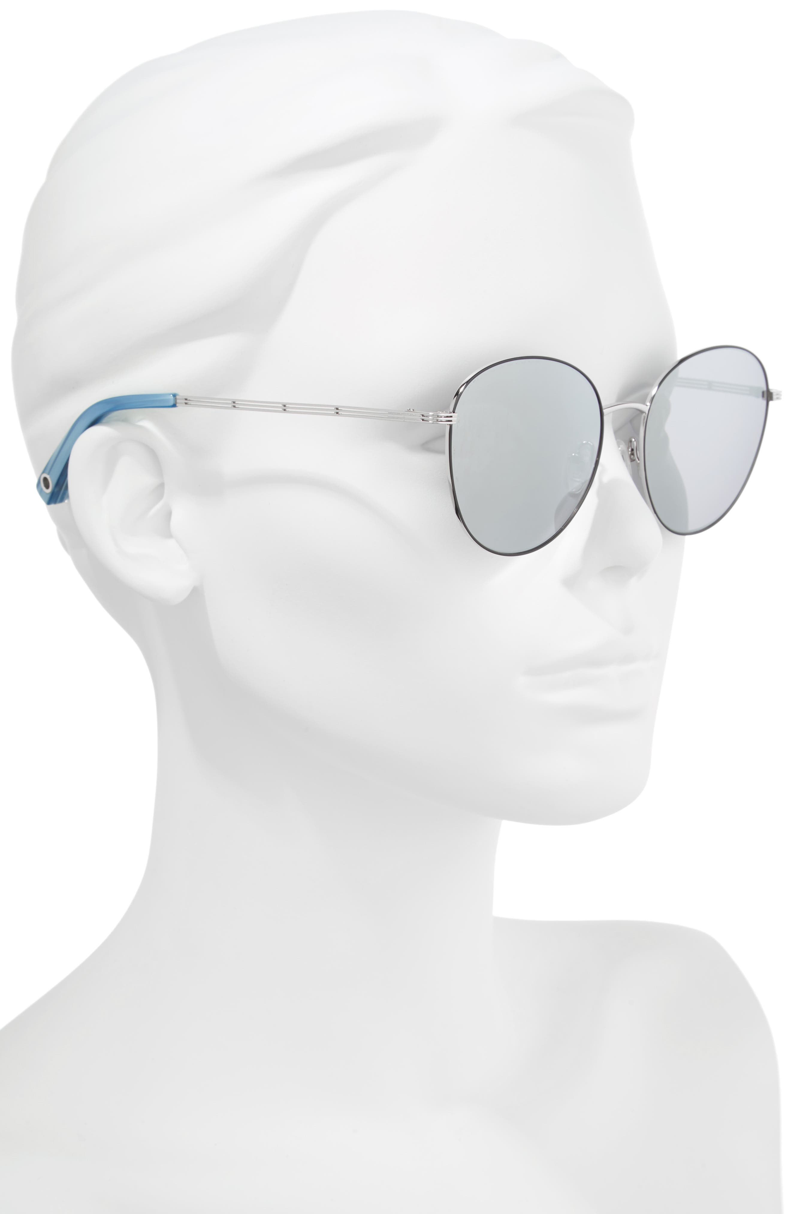 Gilmour 53mm Round Sunglasses & Beaded Chain,                             Alternate thumbnail 4, color,