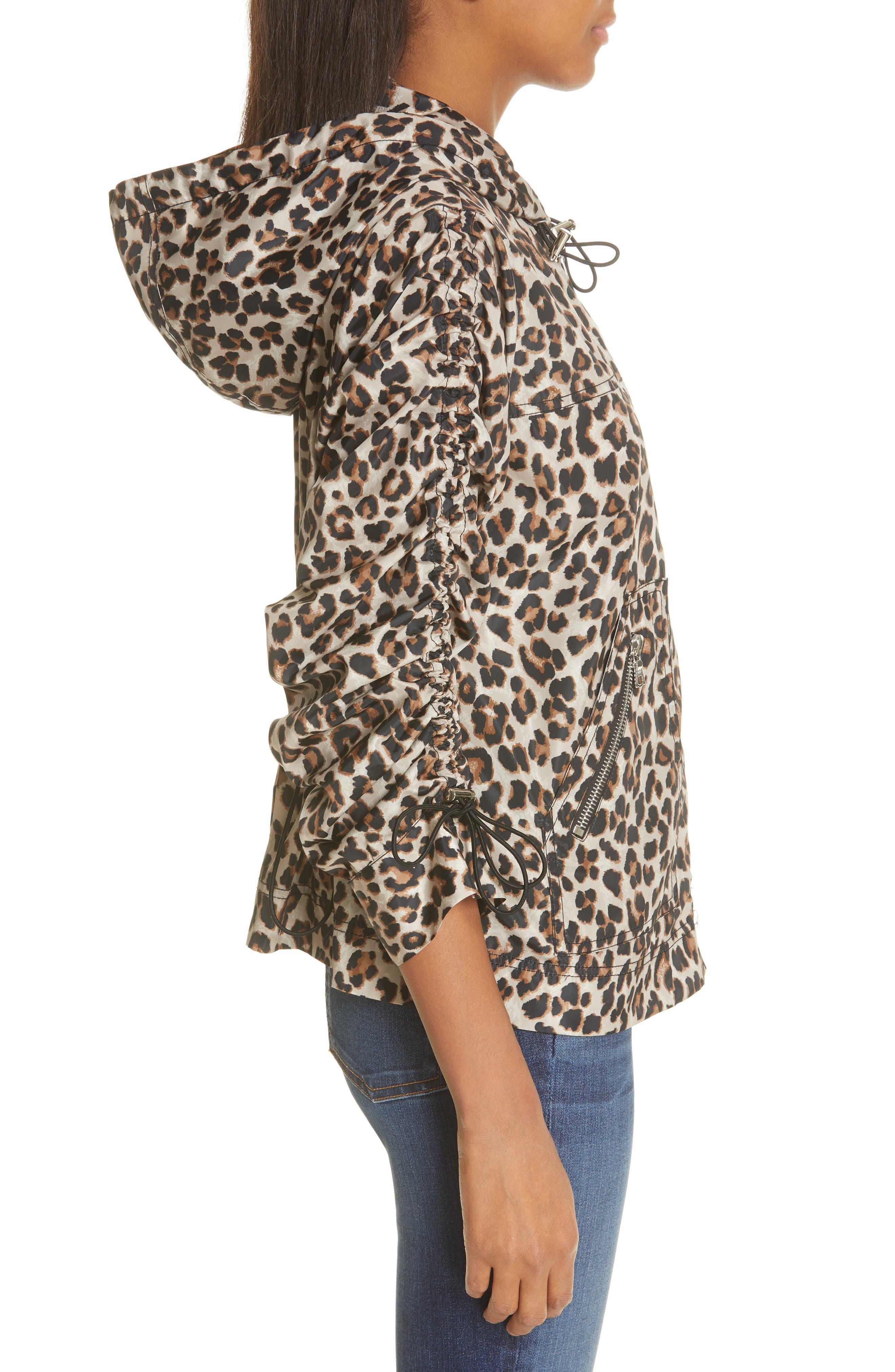 Sibila Leopard Print Jacket,                             Alternate thumbnail 3, color,                             200